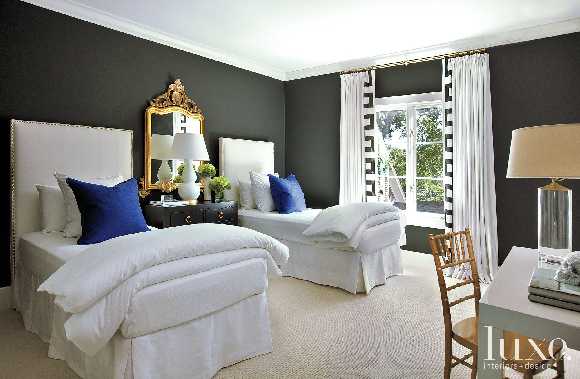 Black and White Modern Guest Room