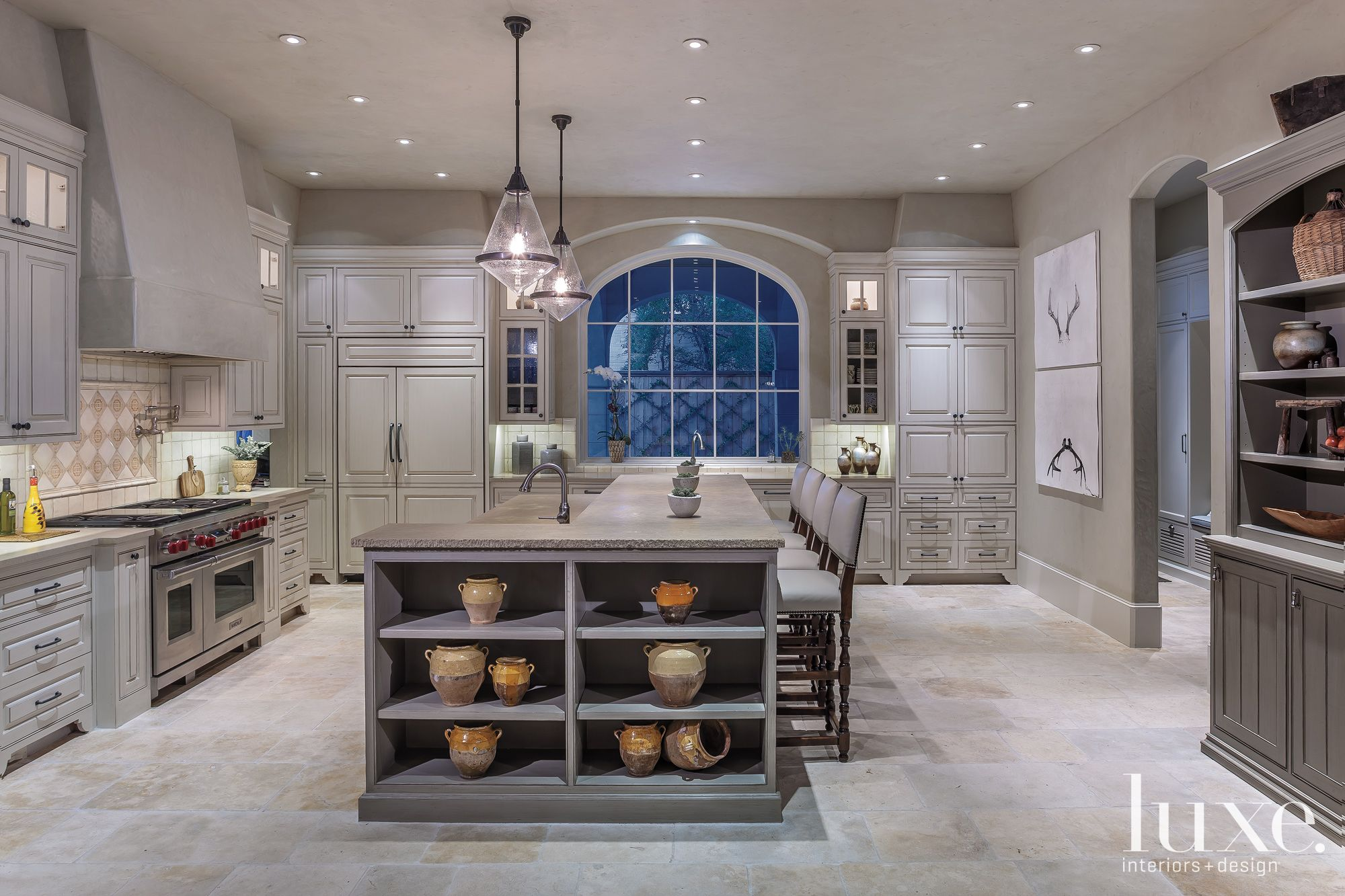 Gray Mediterranean Kitchen