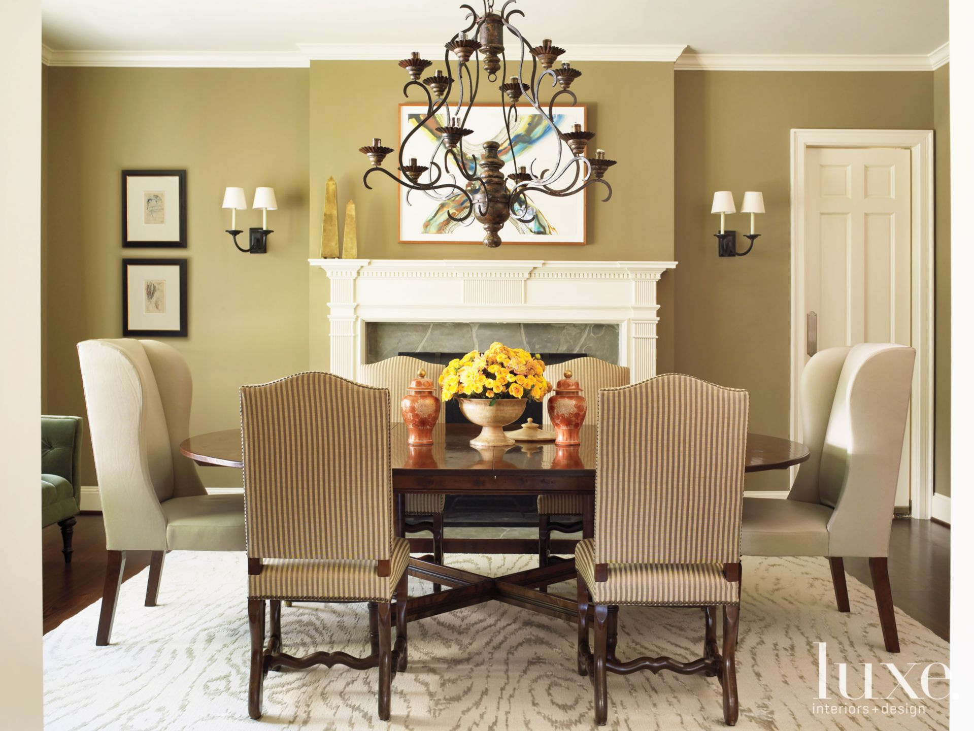Neutral Transitional Dining Room