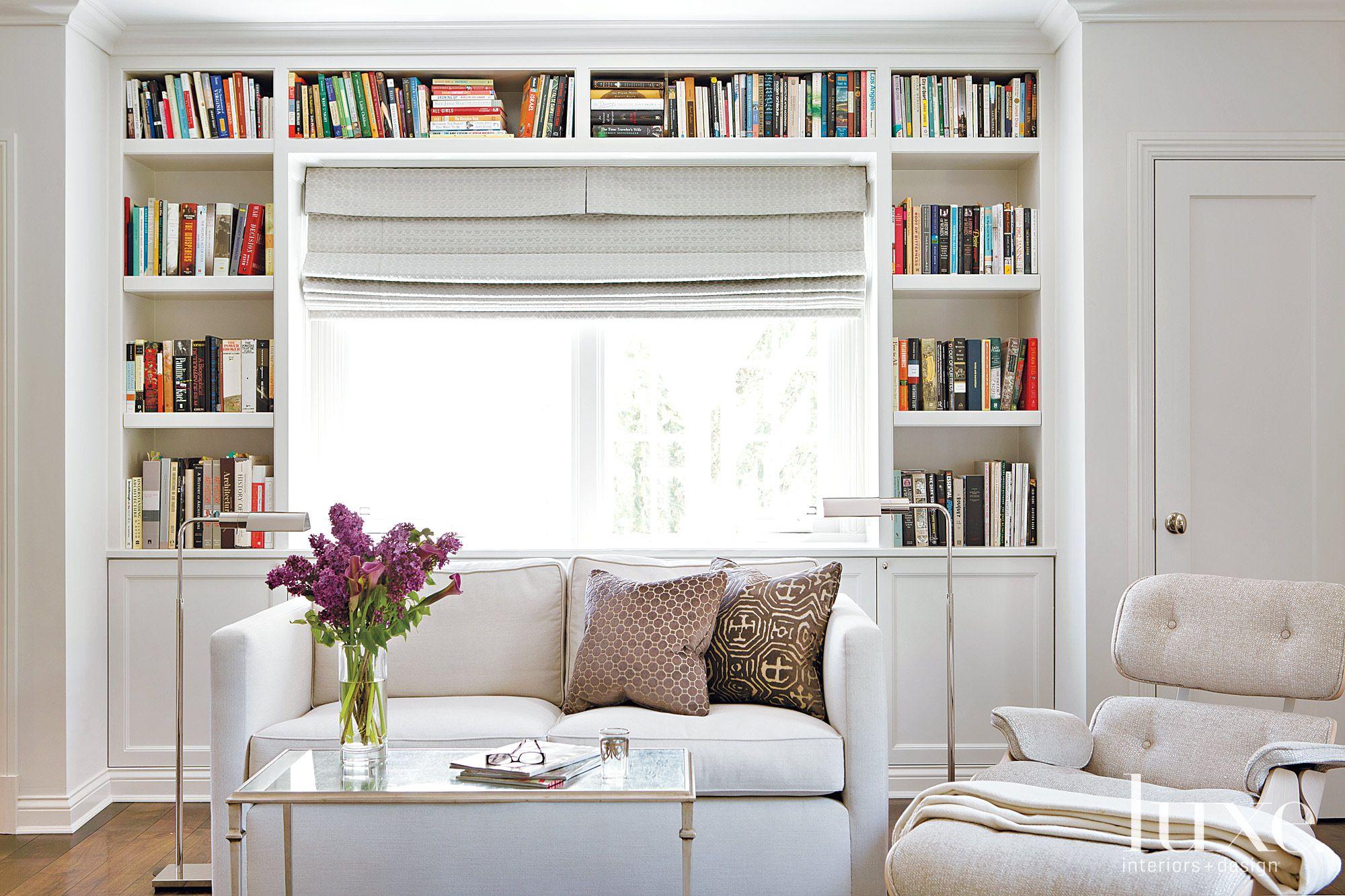 Shelves in master bedroom
