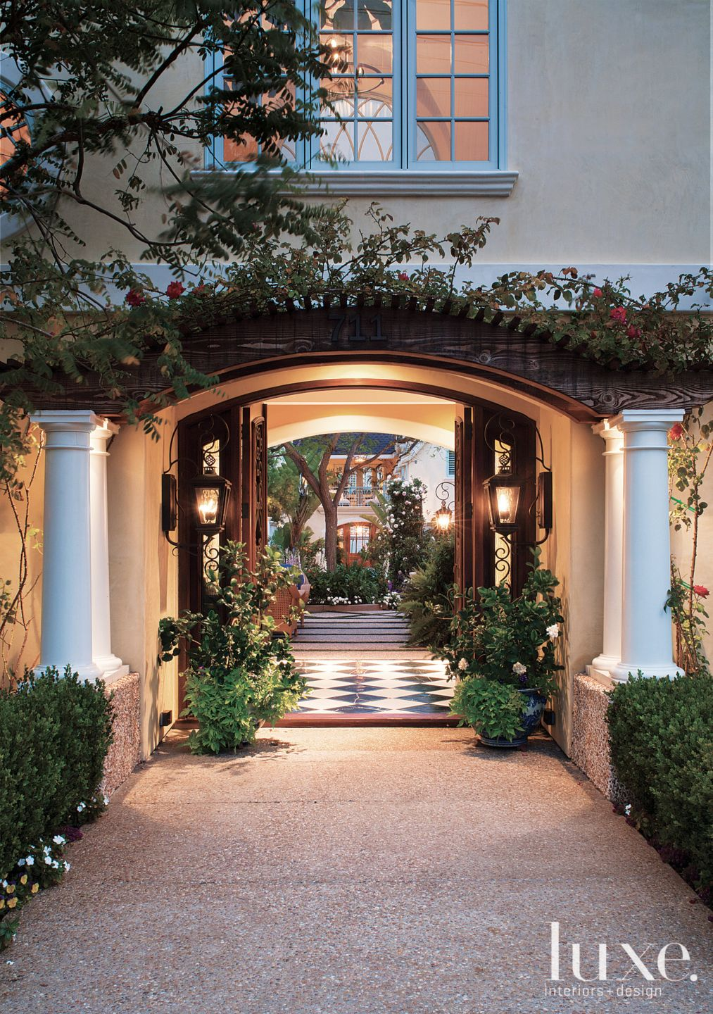 Traditional Arched Entryway