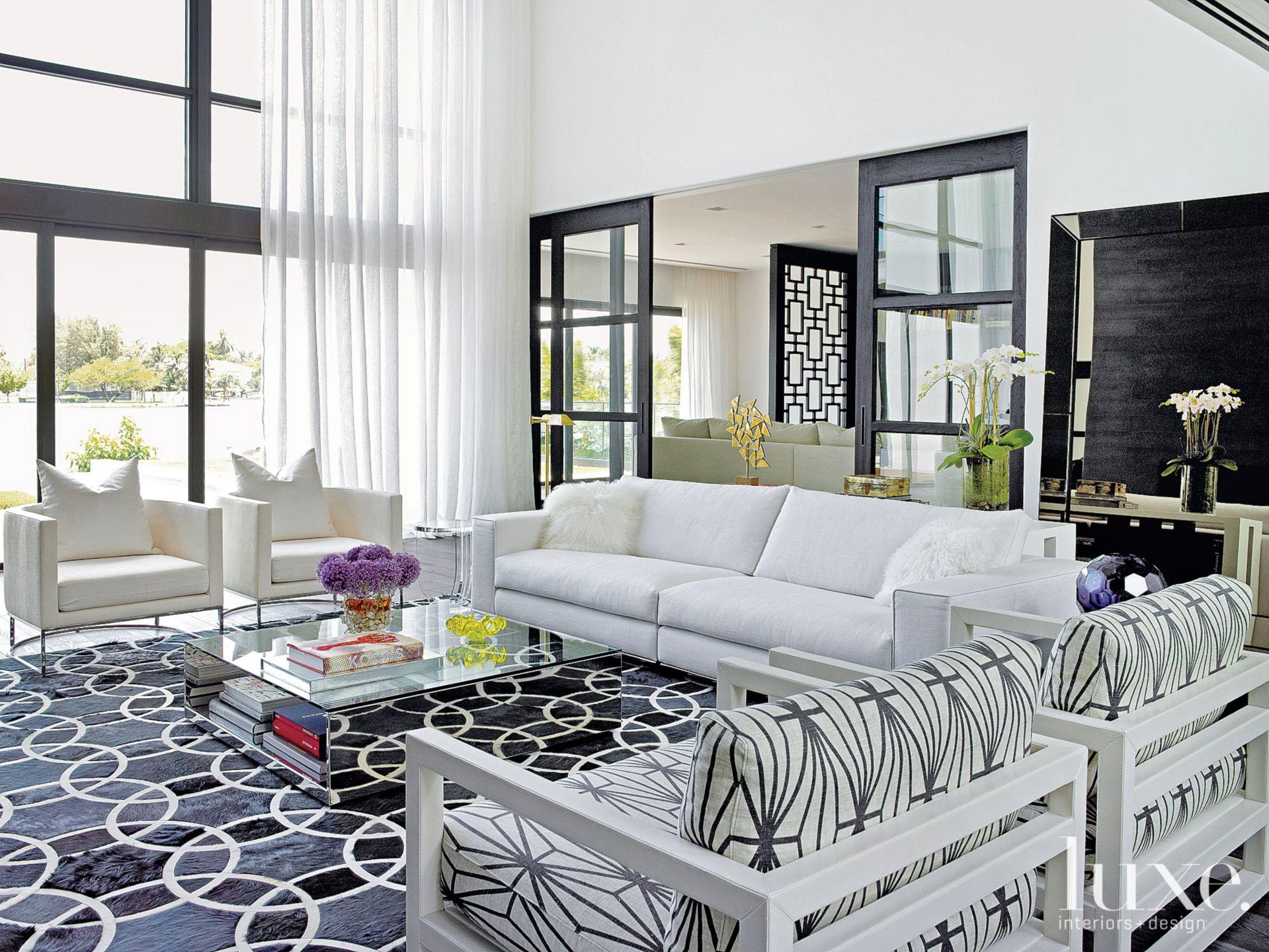 Modern White Great Room