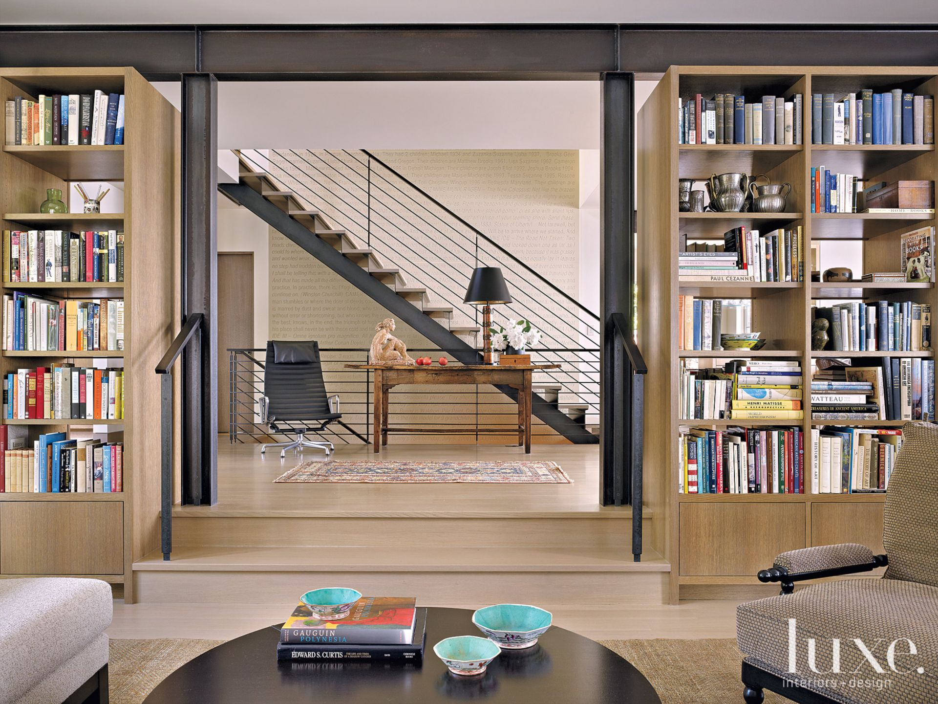 Contemporary Neutral Entry with Eames Chair