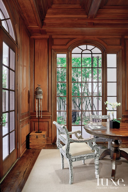 Transitional Paneled Breakfast Room