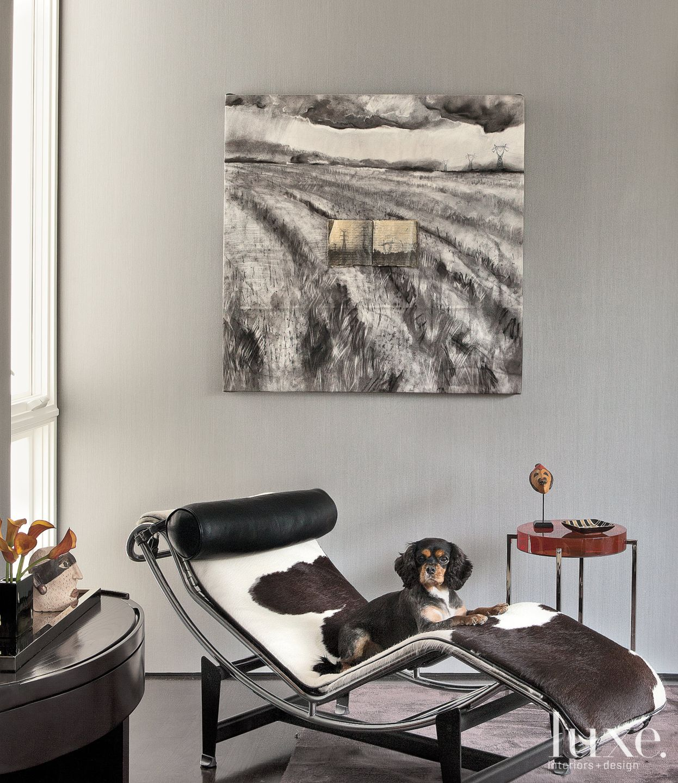 Gray Modern Master Bedroom Detail