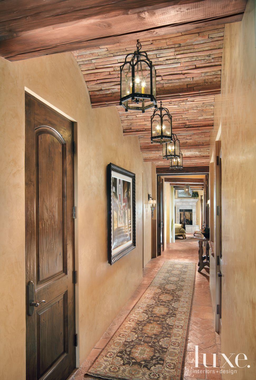 Brown Hallway To Master Bedroom Luxe Interiors Design