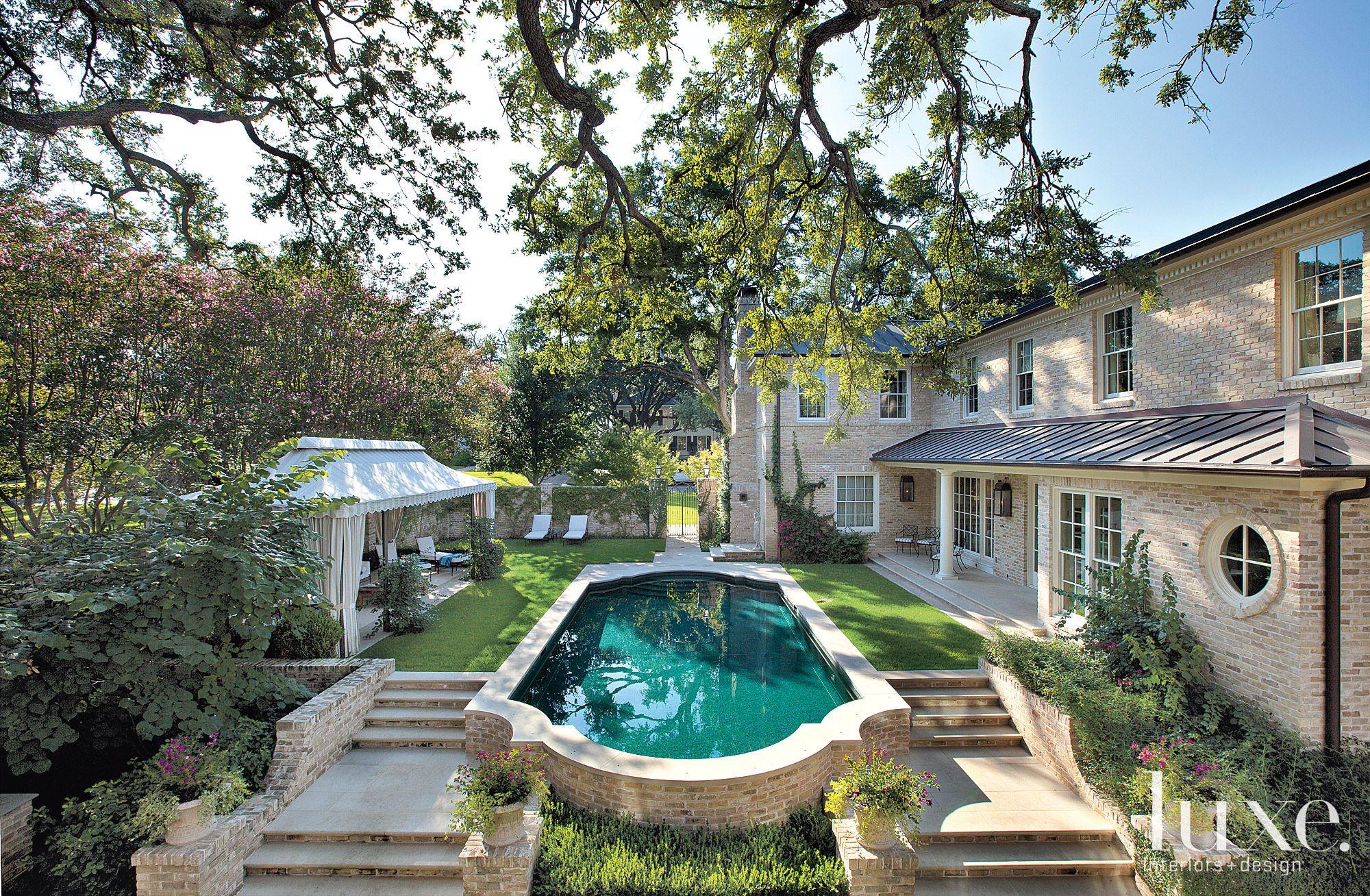 Backyard Restored Poolside Exterior