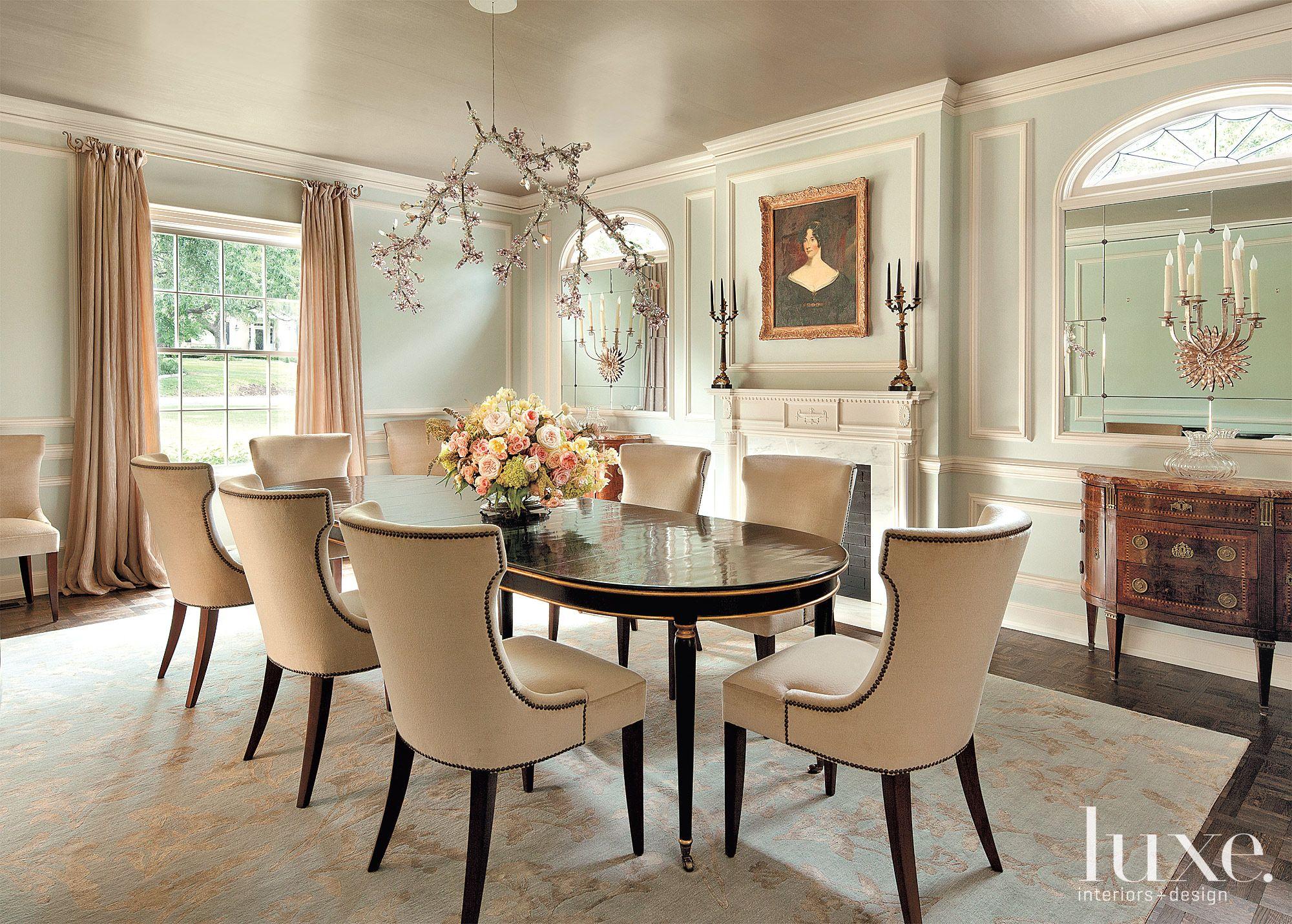 Restored Mint Green Modern Dining Room