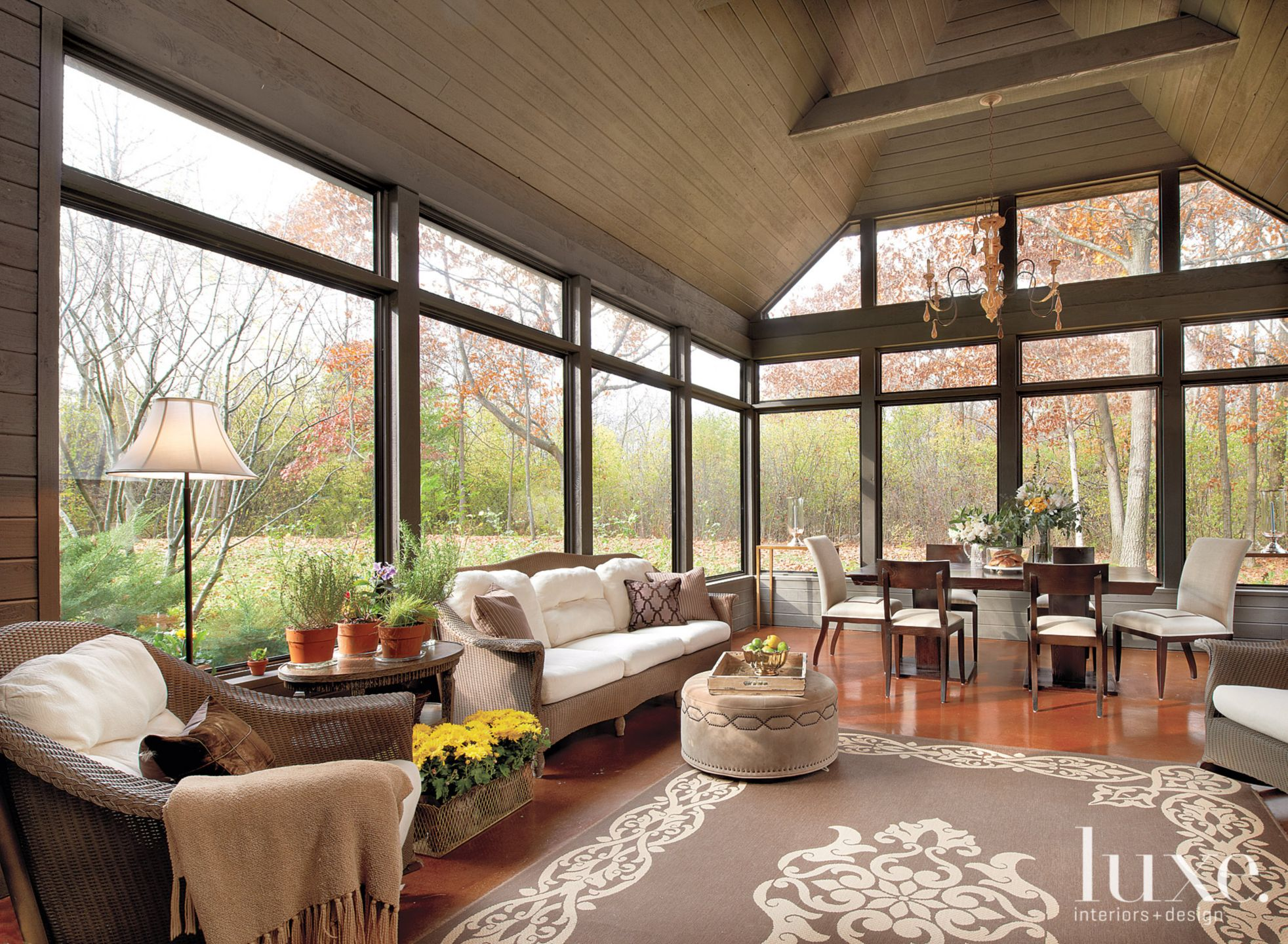Traditional Brown Porch with Heated Flooring