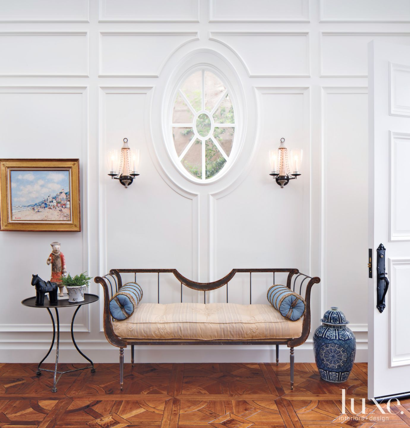 Traditional White Foyer