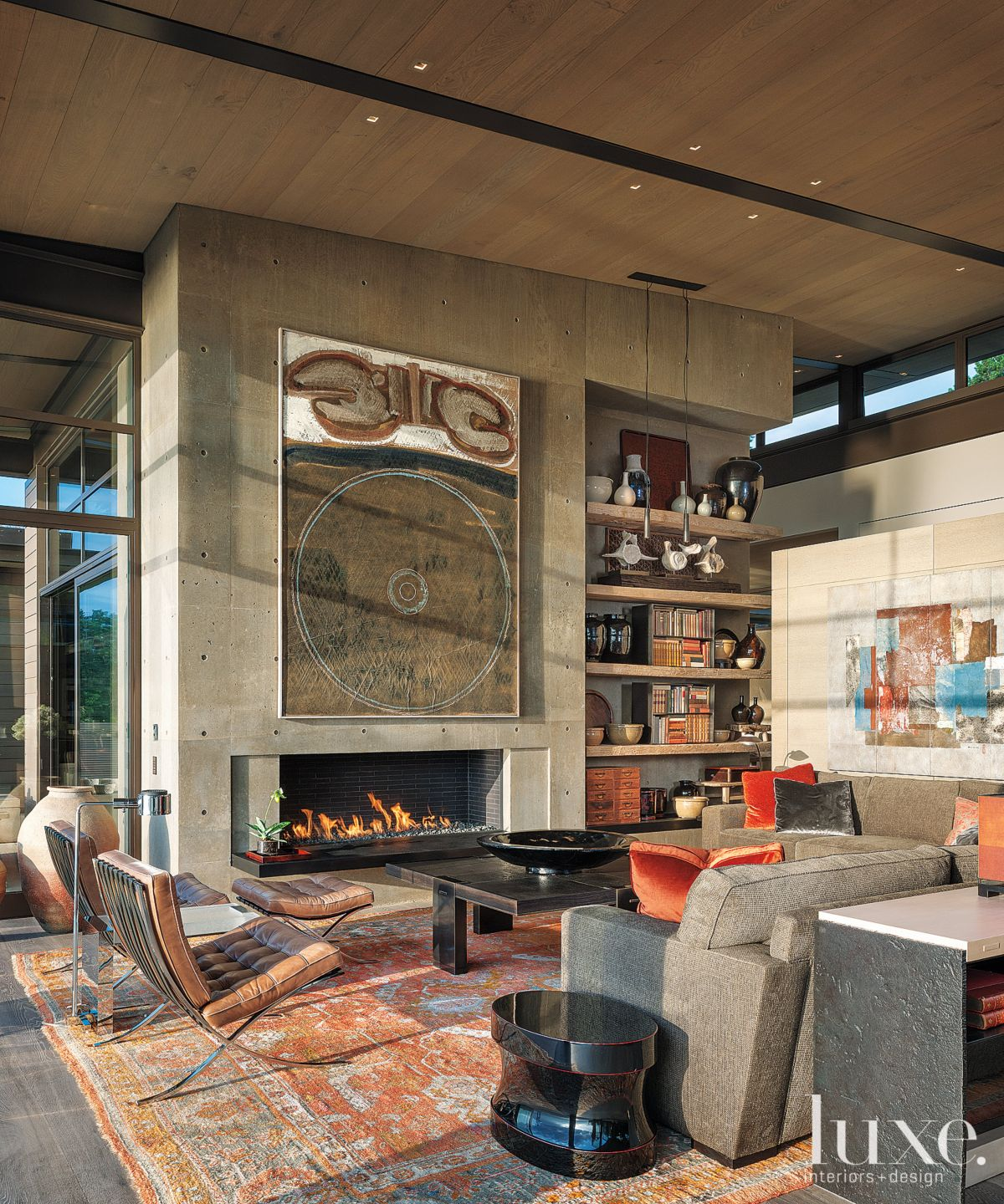 Contemporary Neutral Living Room with