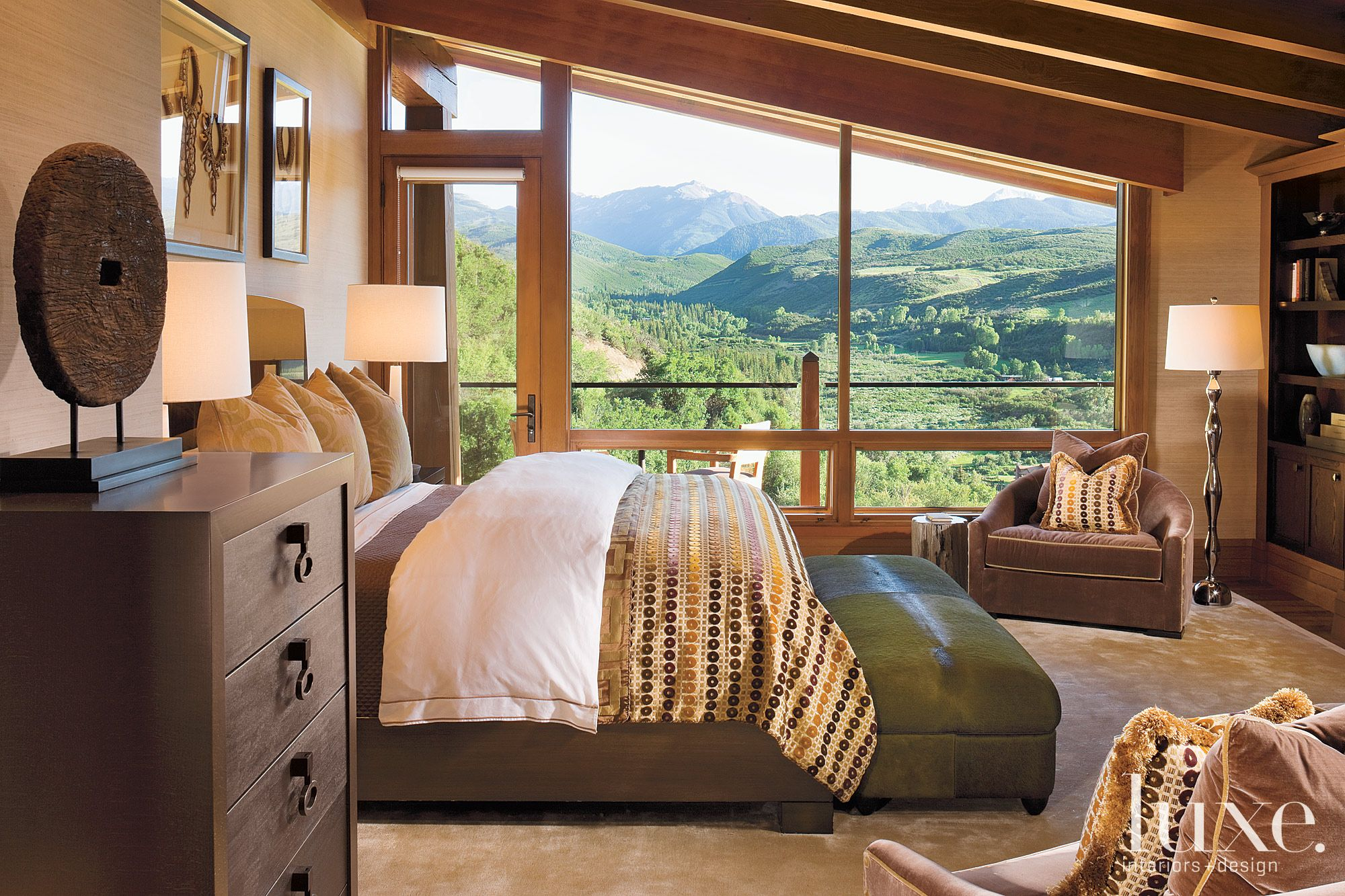 Mountain Neutral Bedroom with Mountain Views