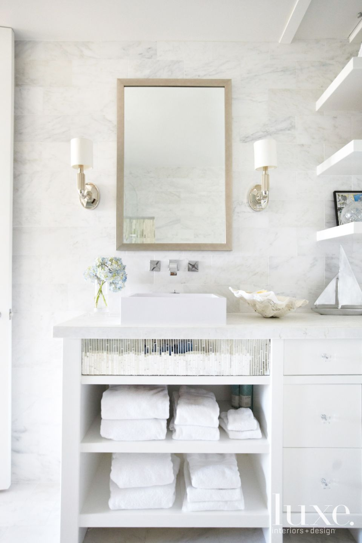 Modern White Marble Bathroom Luxe Interiors Design