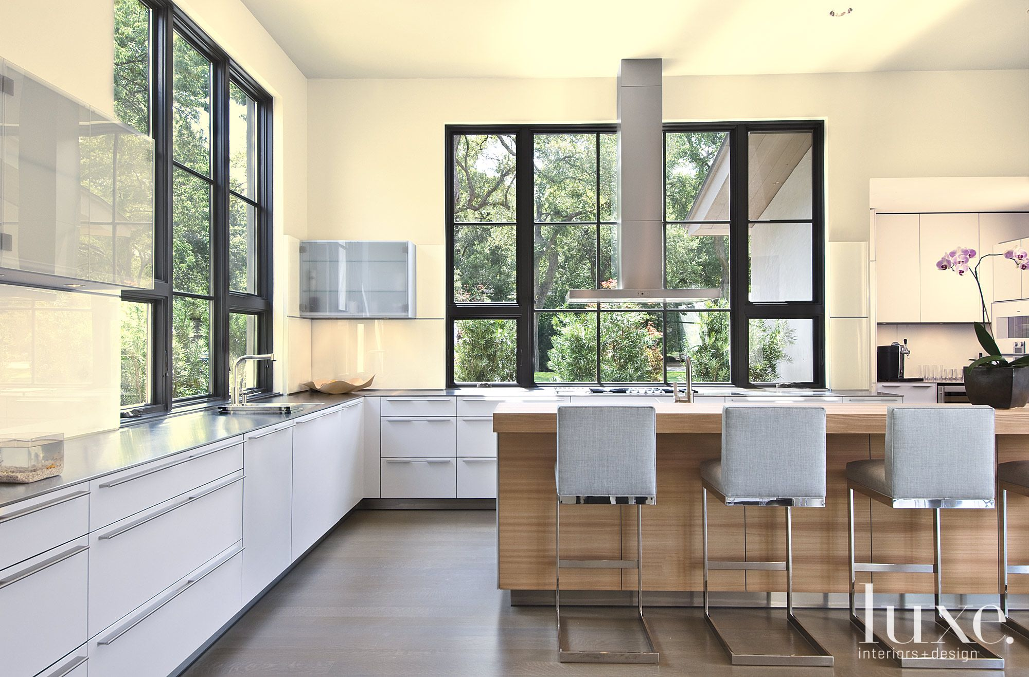 Yellow Modern Gourmet Kitchen