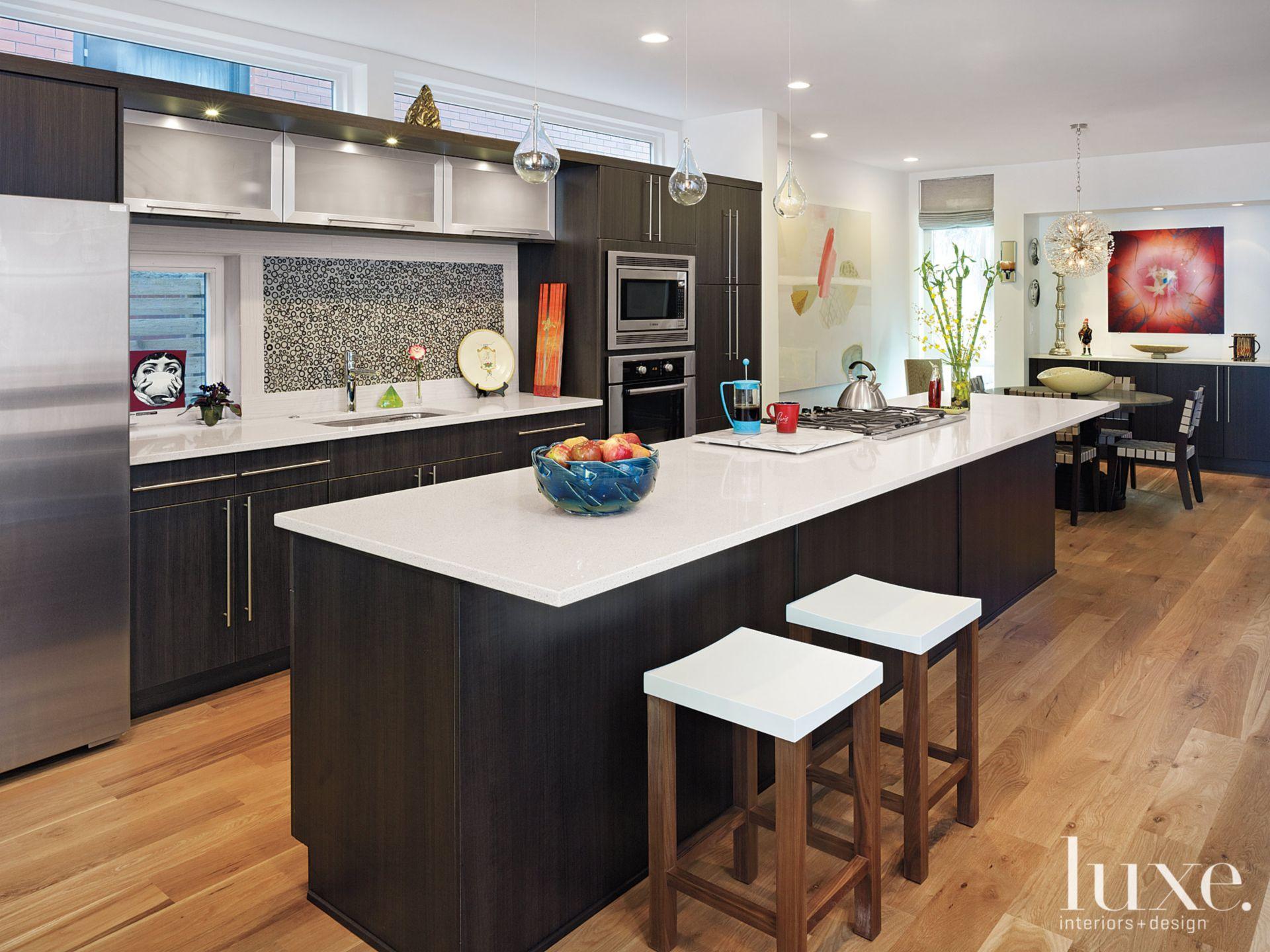 Modern Dark-Stained Kitchen