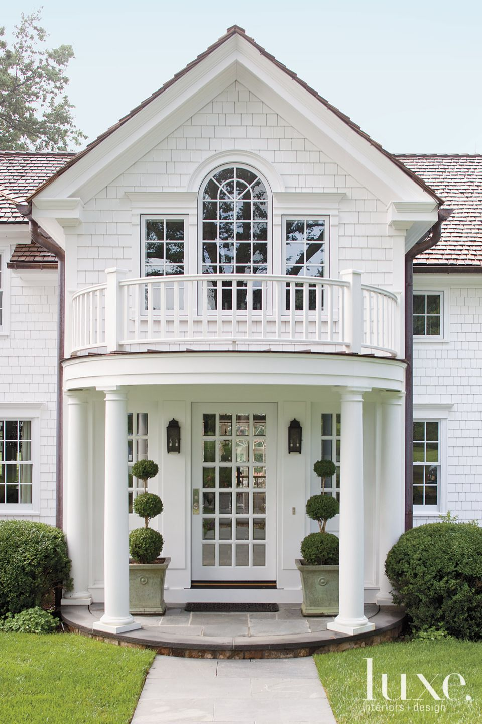 White Front Exterior Entrance