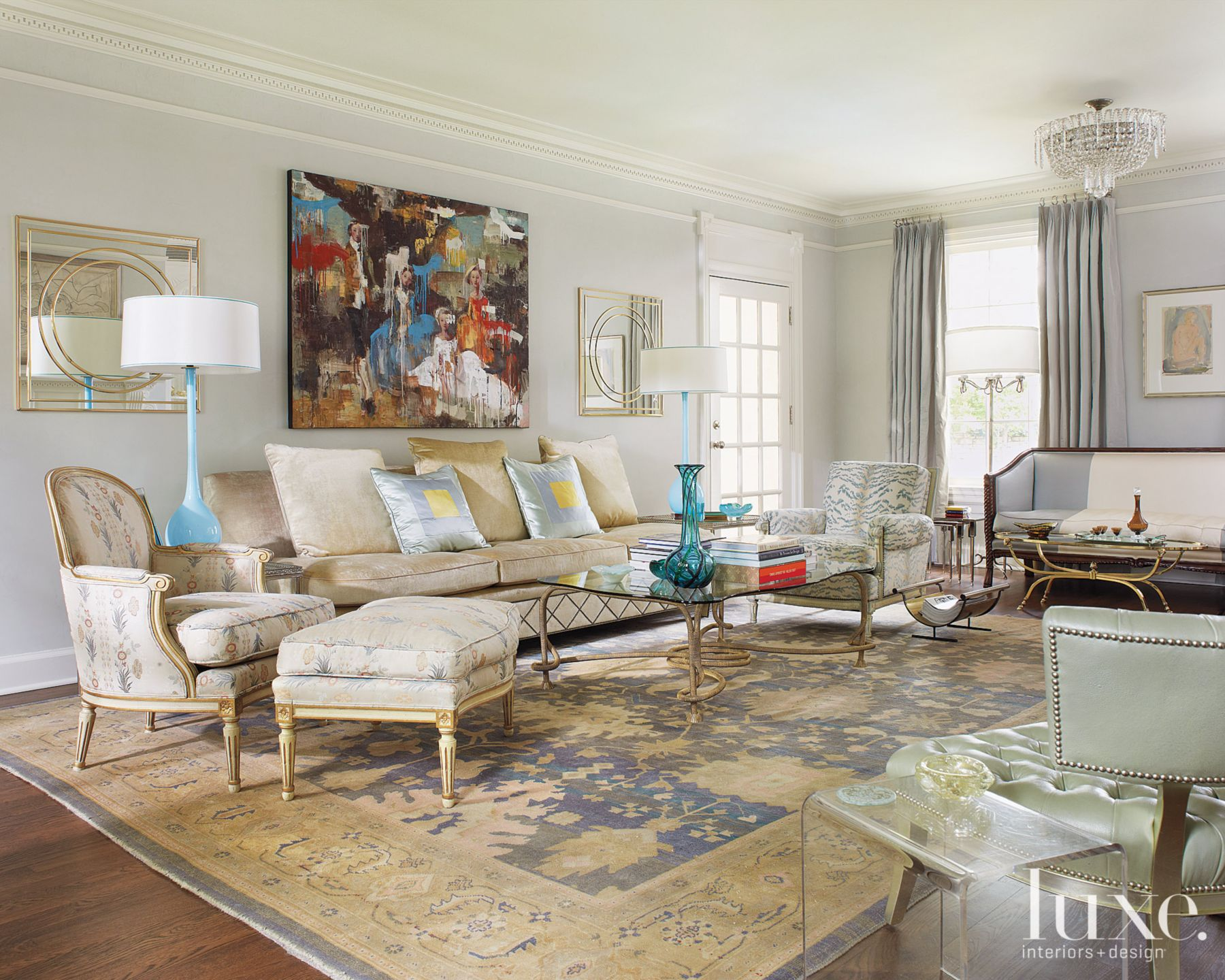 Neutral Neo-Classical Living Room