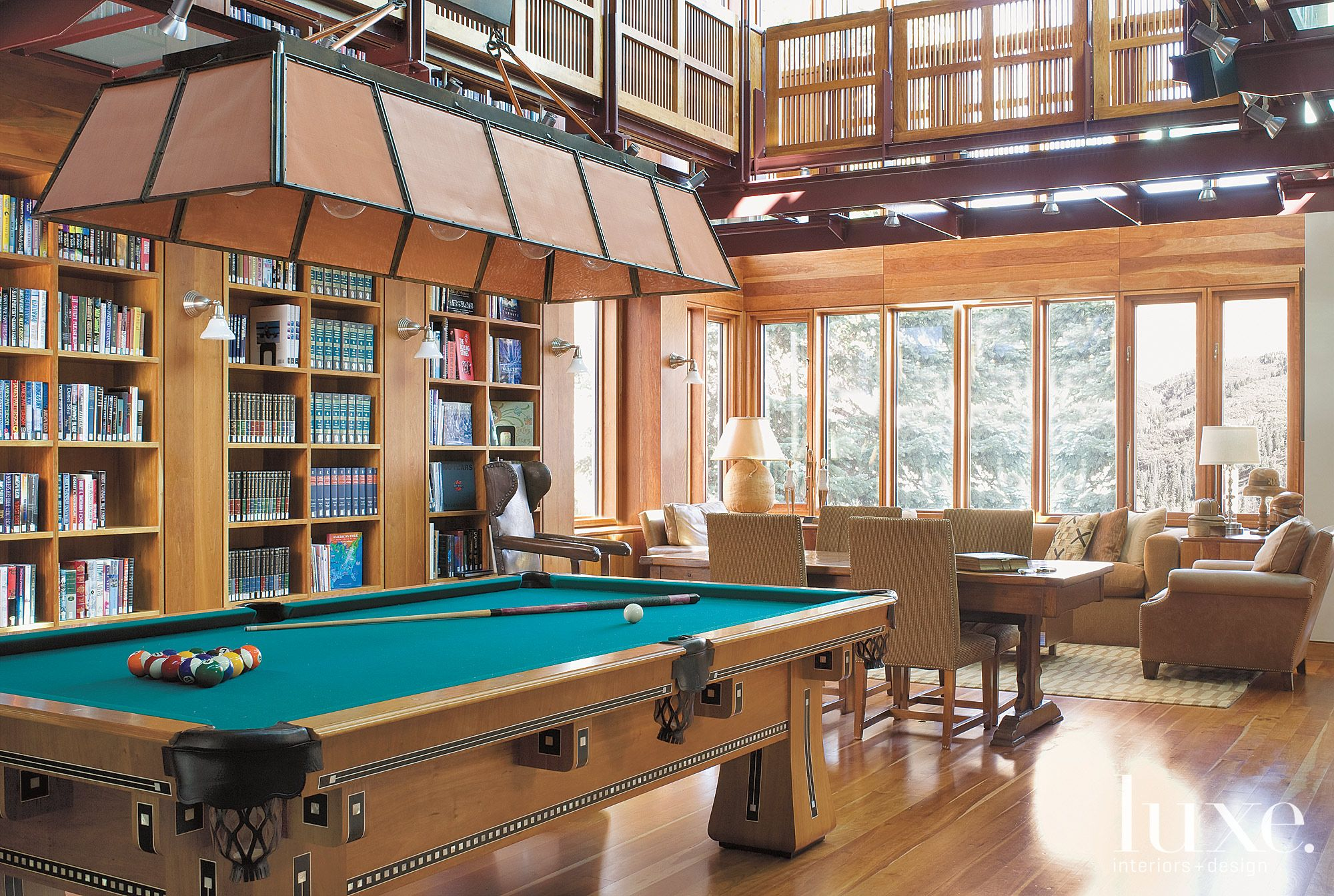 Brown Mountain Study with Pool Table