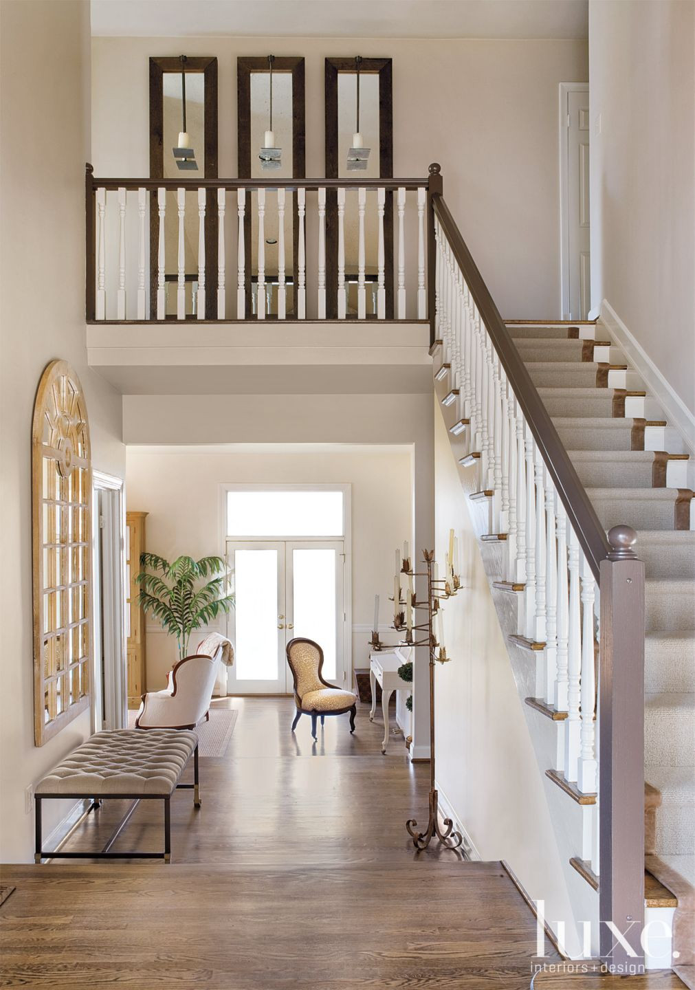 Transitional Neutral Foyer