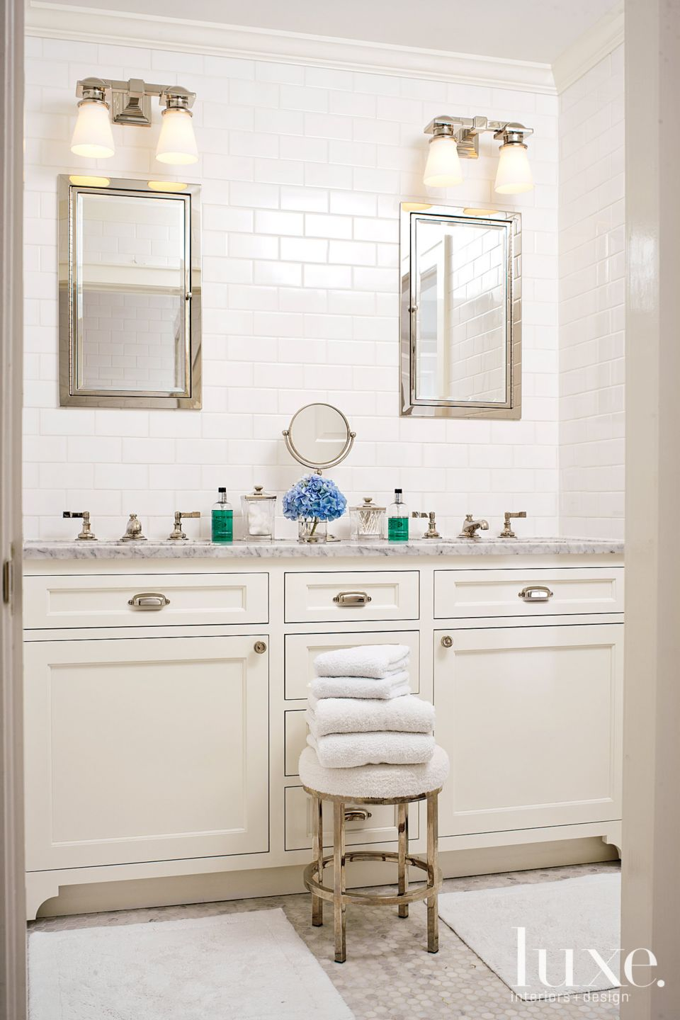 Jack and Jill Neutral Colored Bathroom