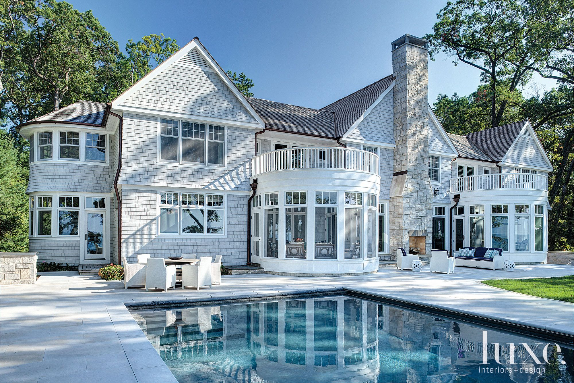 Contemporary Neutral Exterior with Pool