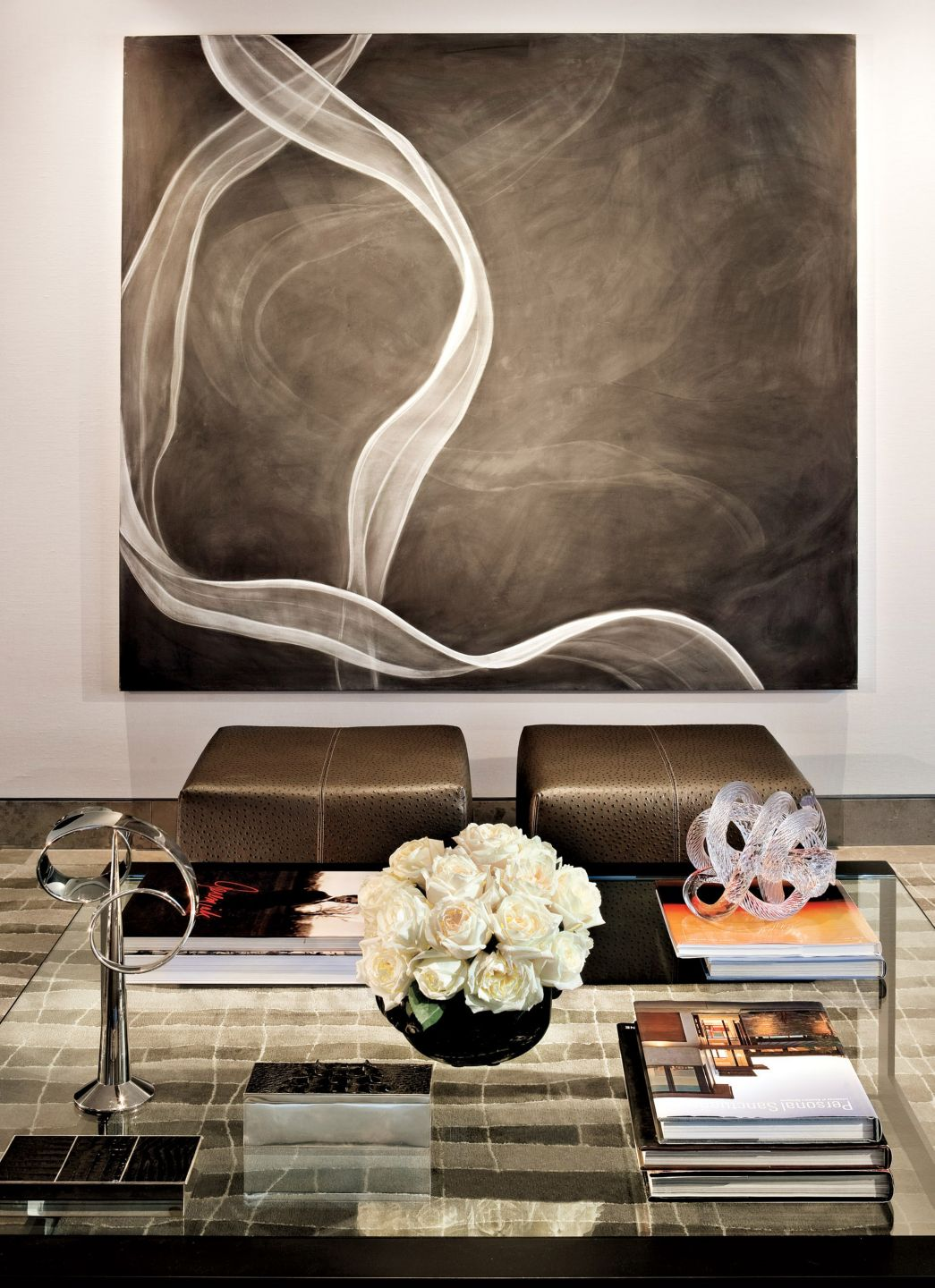 Contemporary Neutral Living Room with Art Work