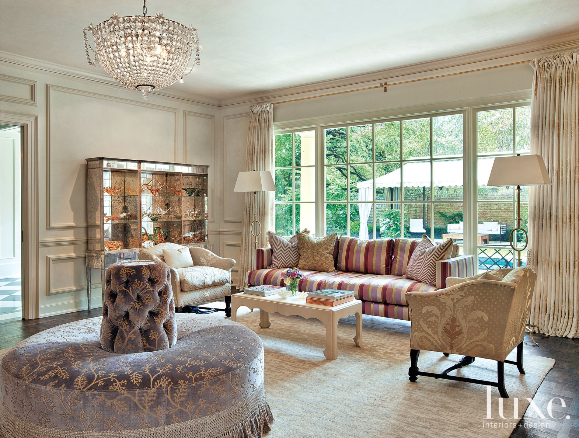 Neutral Traditional Living Room