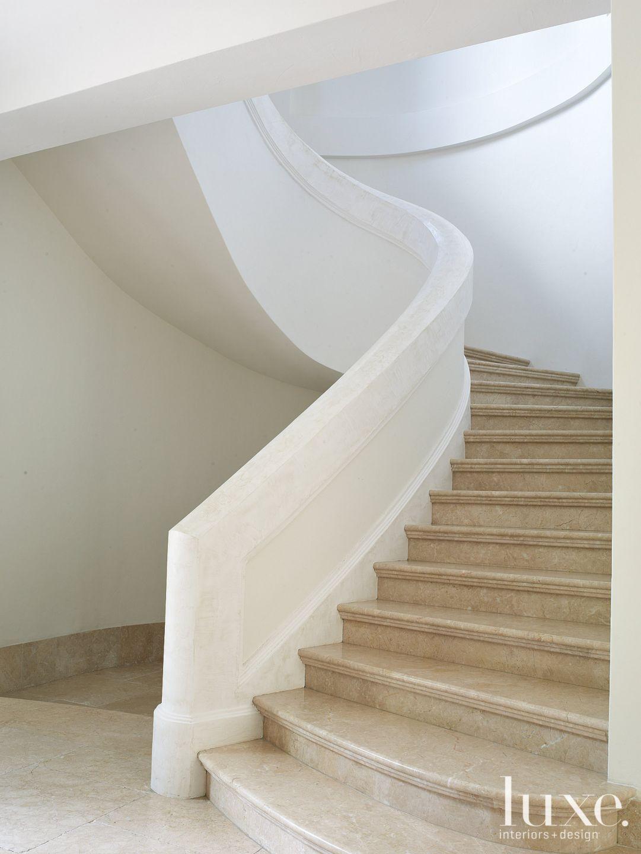 Mediterranean White Spiral Staircase