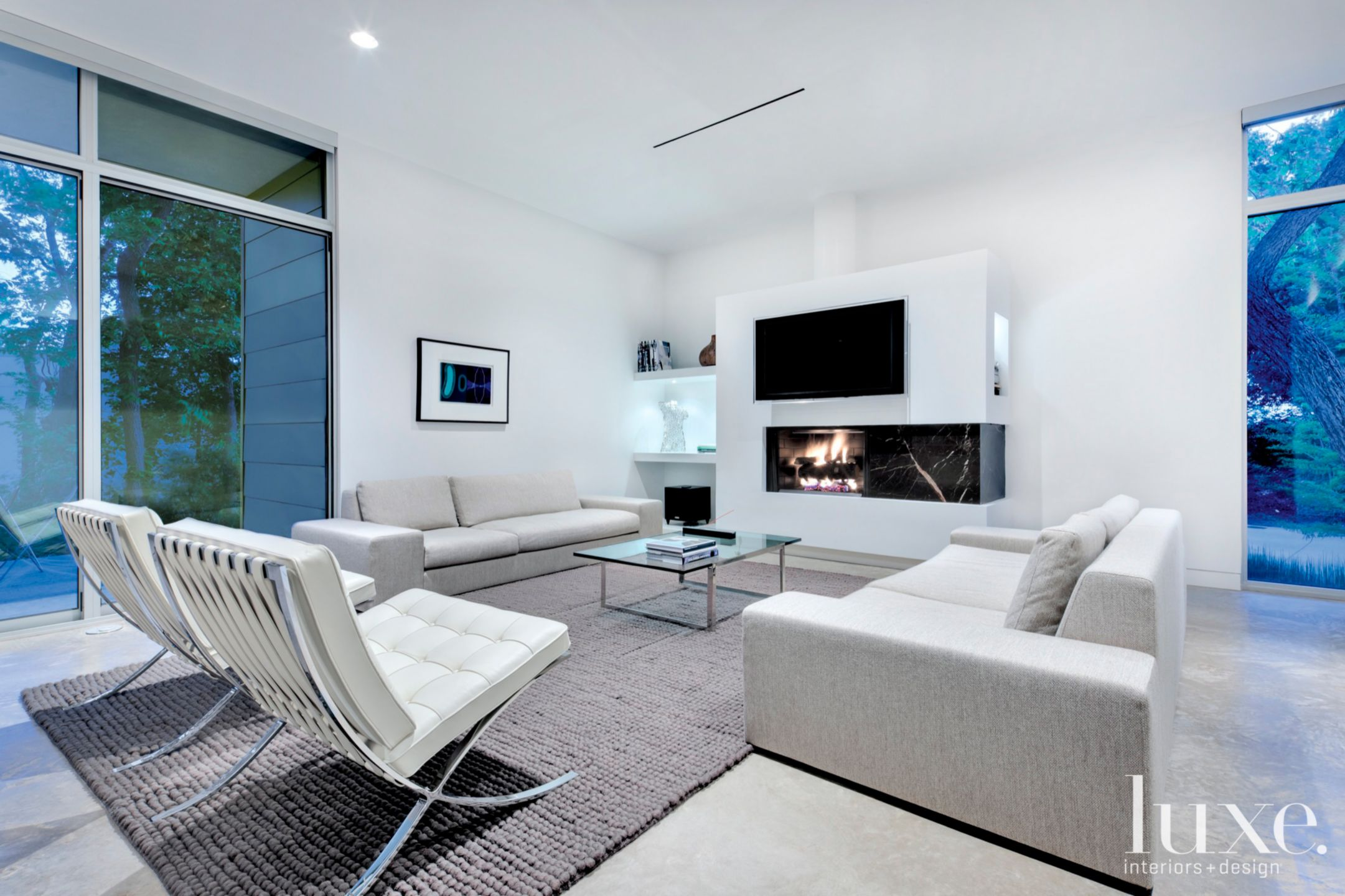 Modern White Minimal Living Area