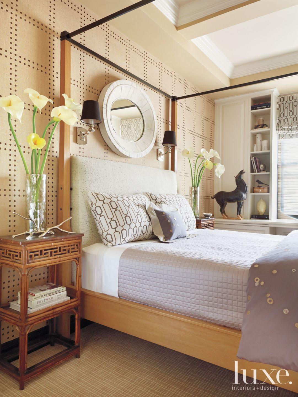Modern Master Bedroom with Vintage Mirror