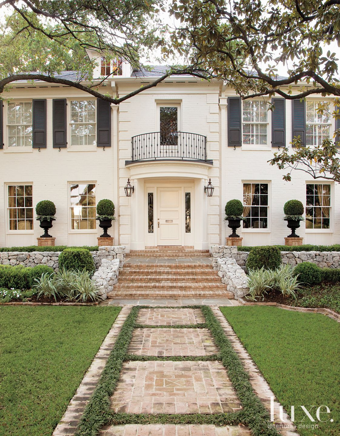 Neoclassic White Traditional Front Exterior