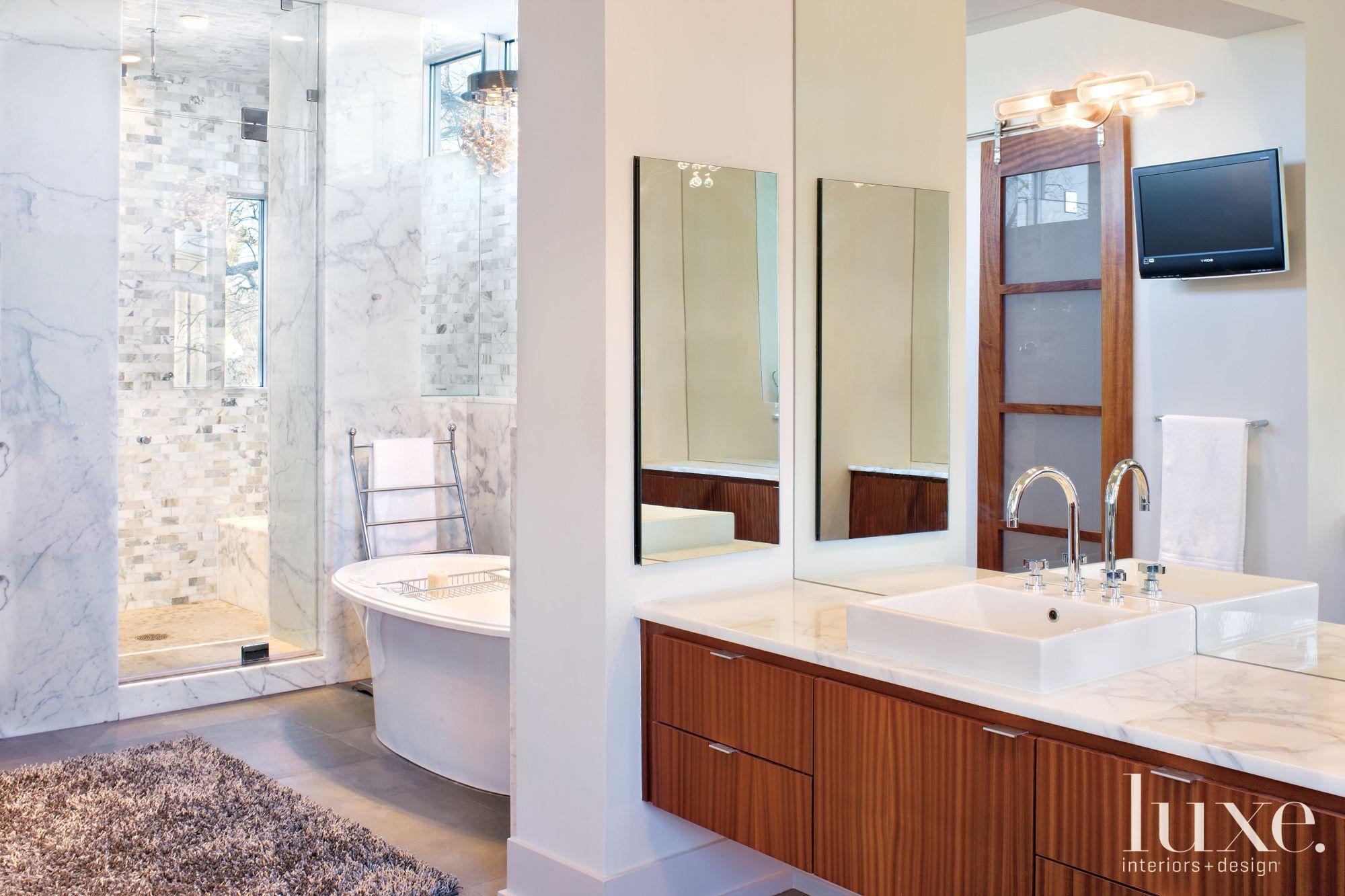 Modern Marble Master Bathroom