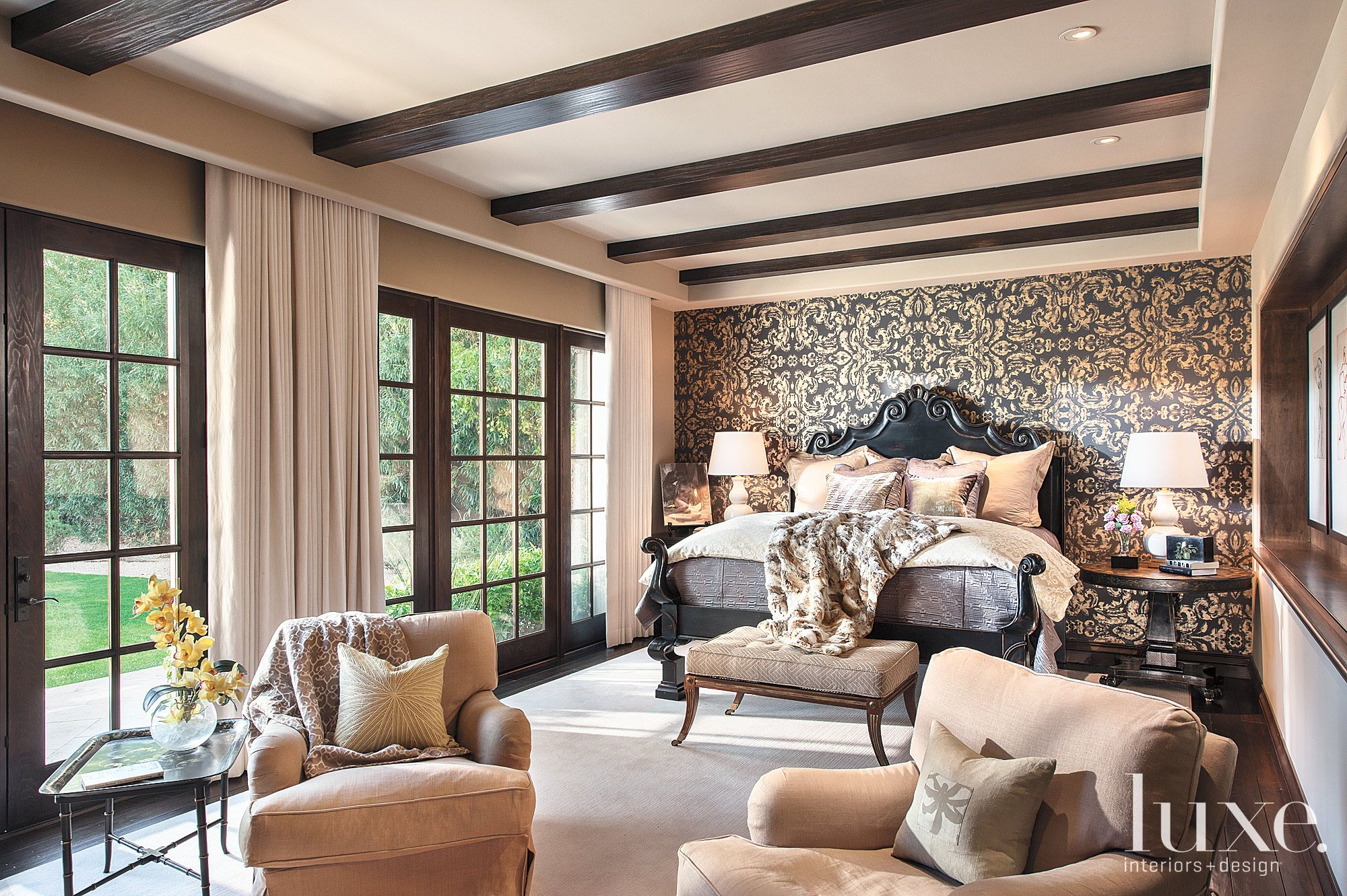 Contemporary Brown Master Bedroom