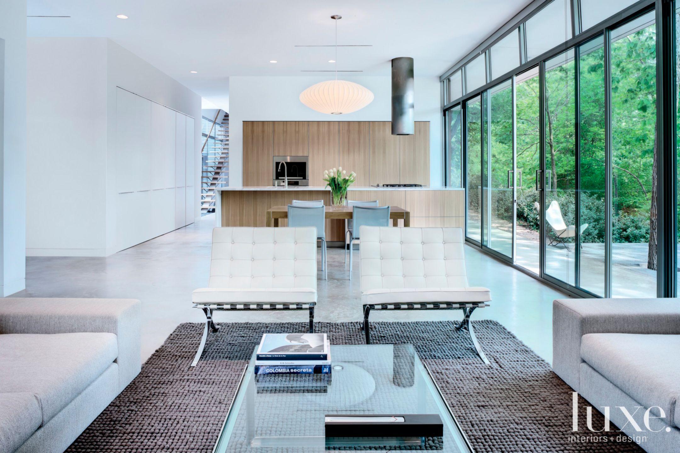 Modern White Open-Plan Living Area