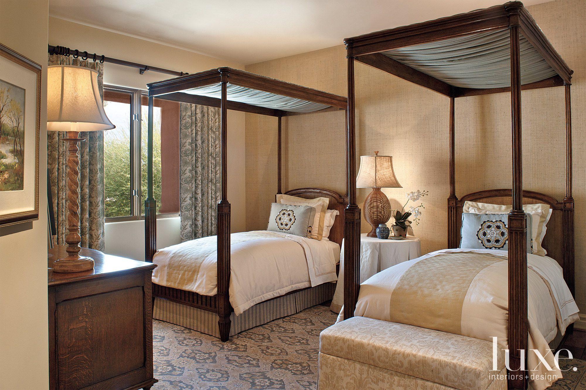 Mediterranean Neutral Guest Bedroom