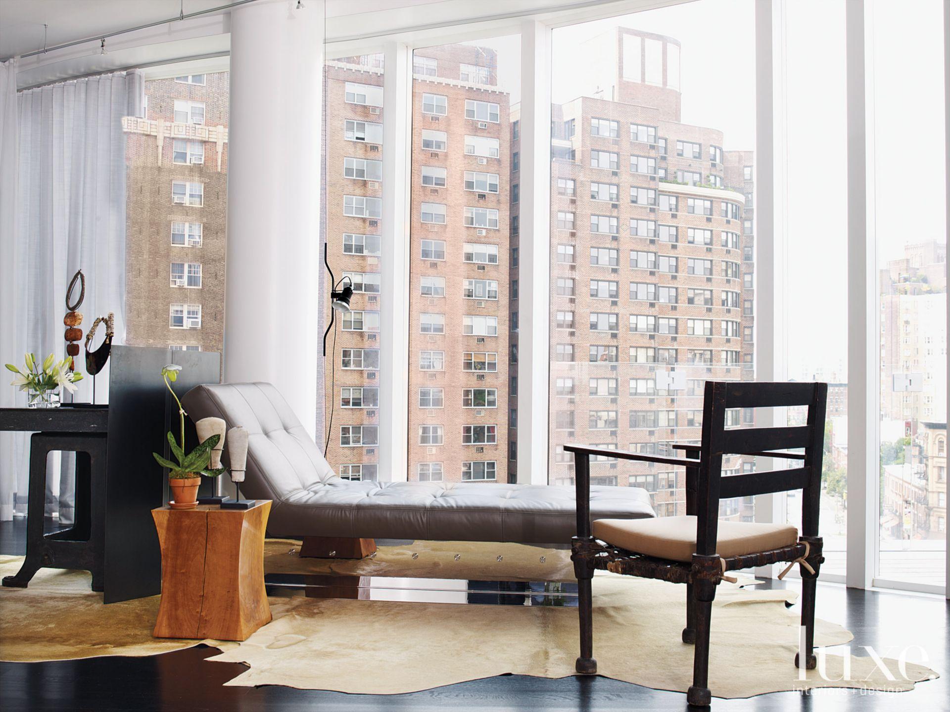 White Modern Living Room Lounge Area