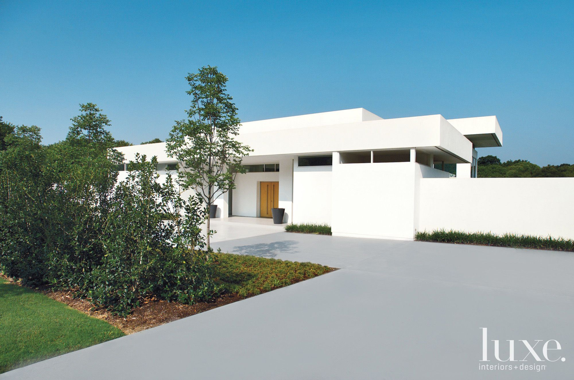 Modern White Minimal Front Elevation