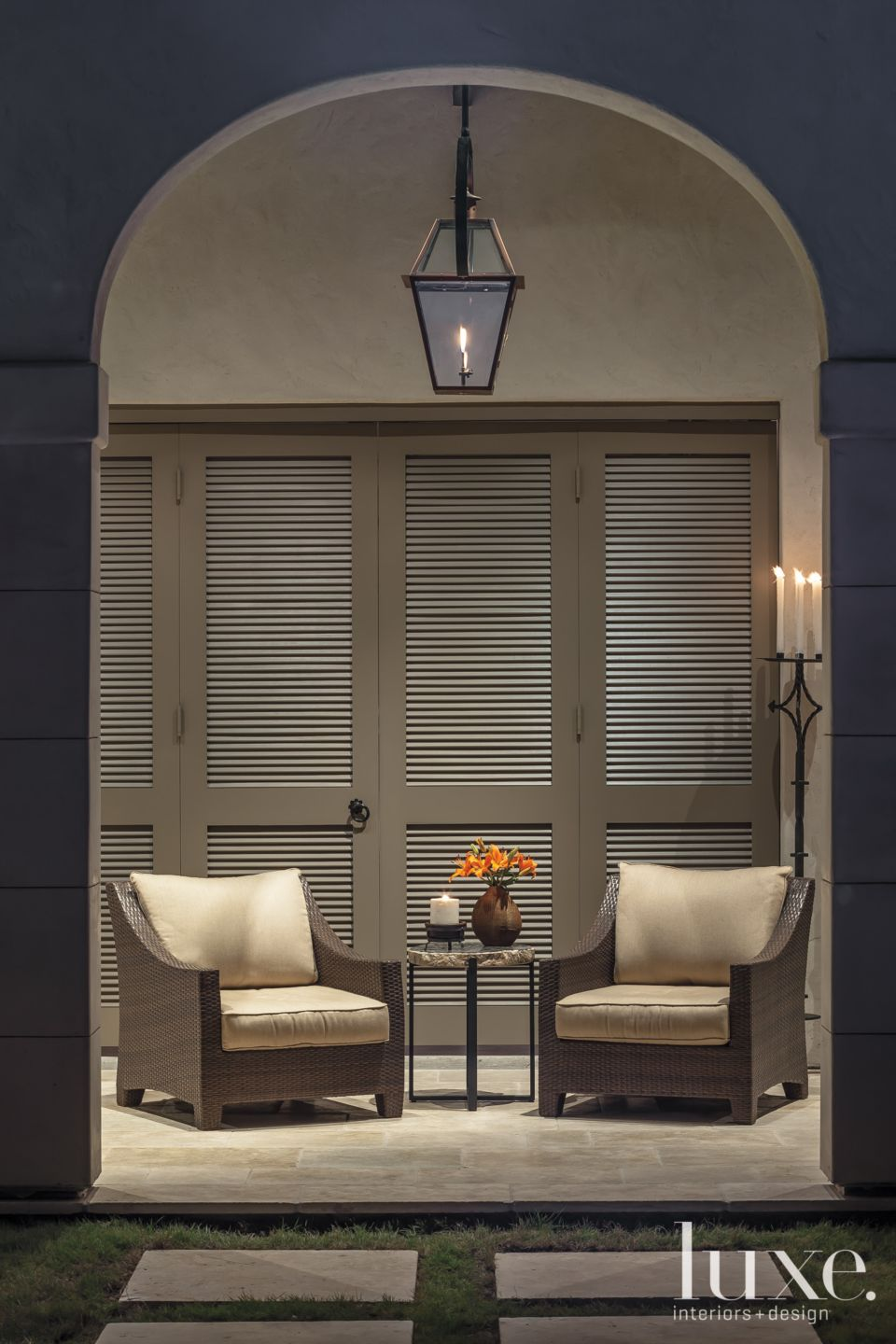 Neutral Loggia Sitting Area