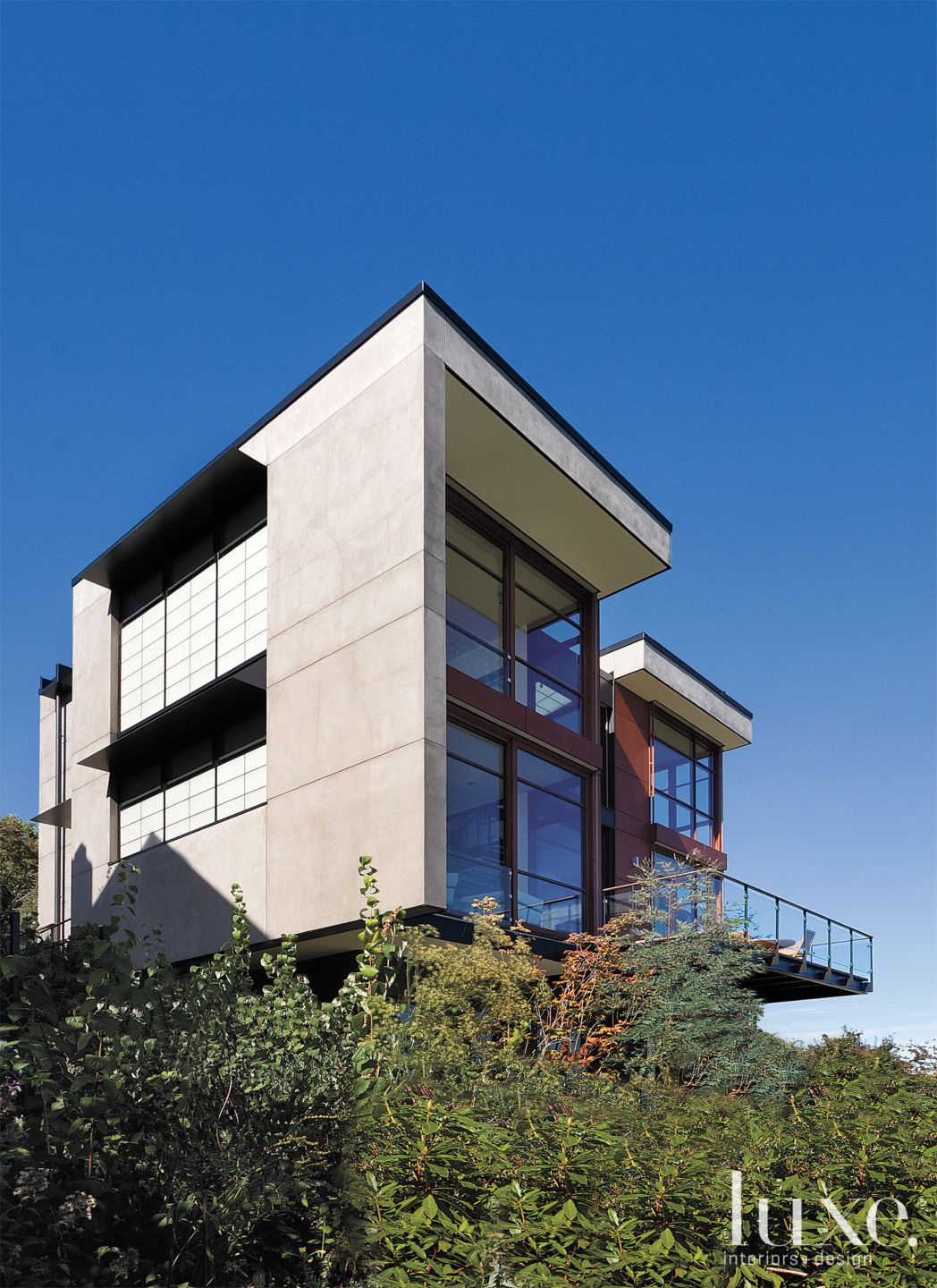 Modern Wood and Stucco Rear Elevation