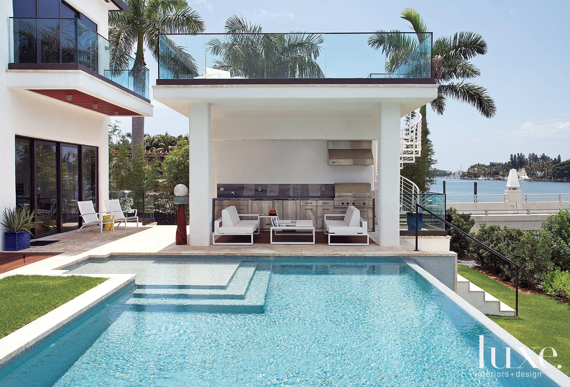 Modern Bi-level Poolside Cabana