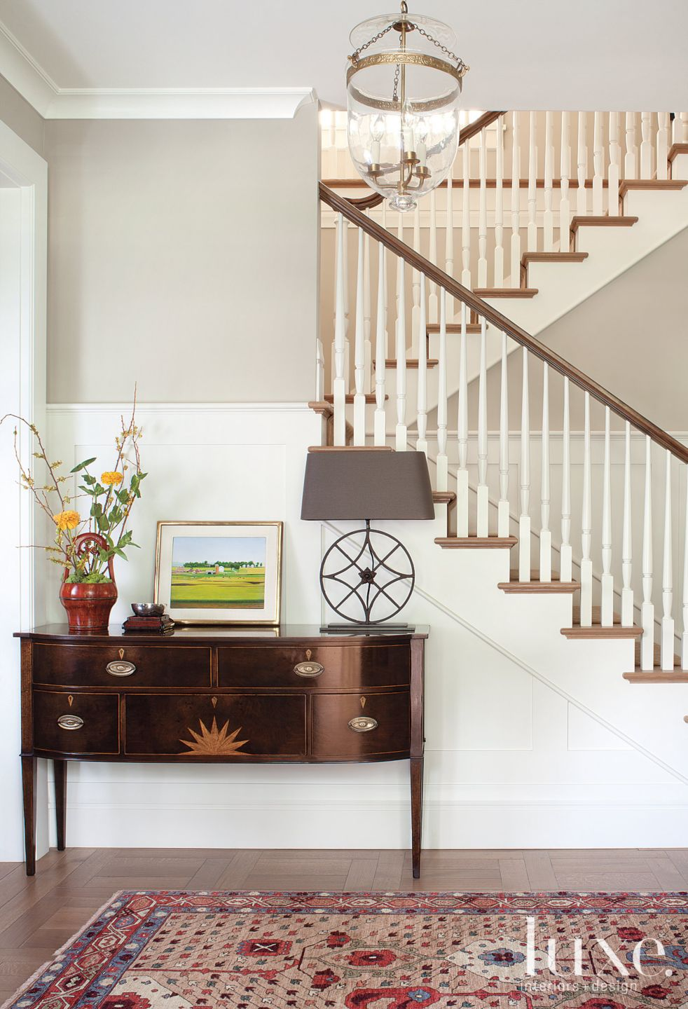 Traditional Foyer Staircase