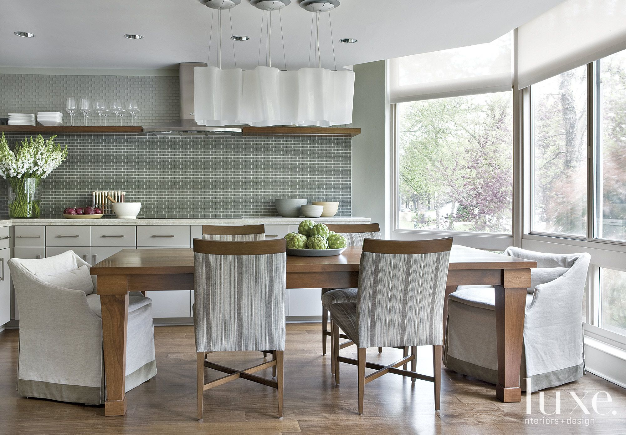 Contemporary Sage Kitchen