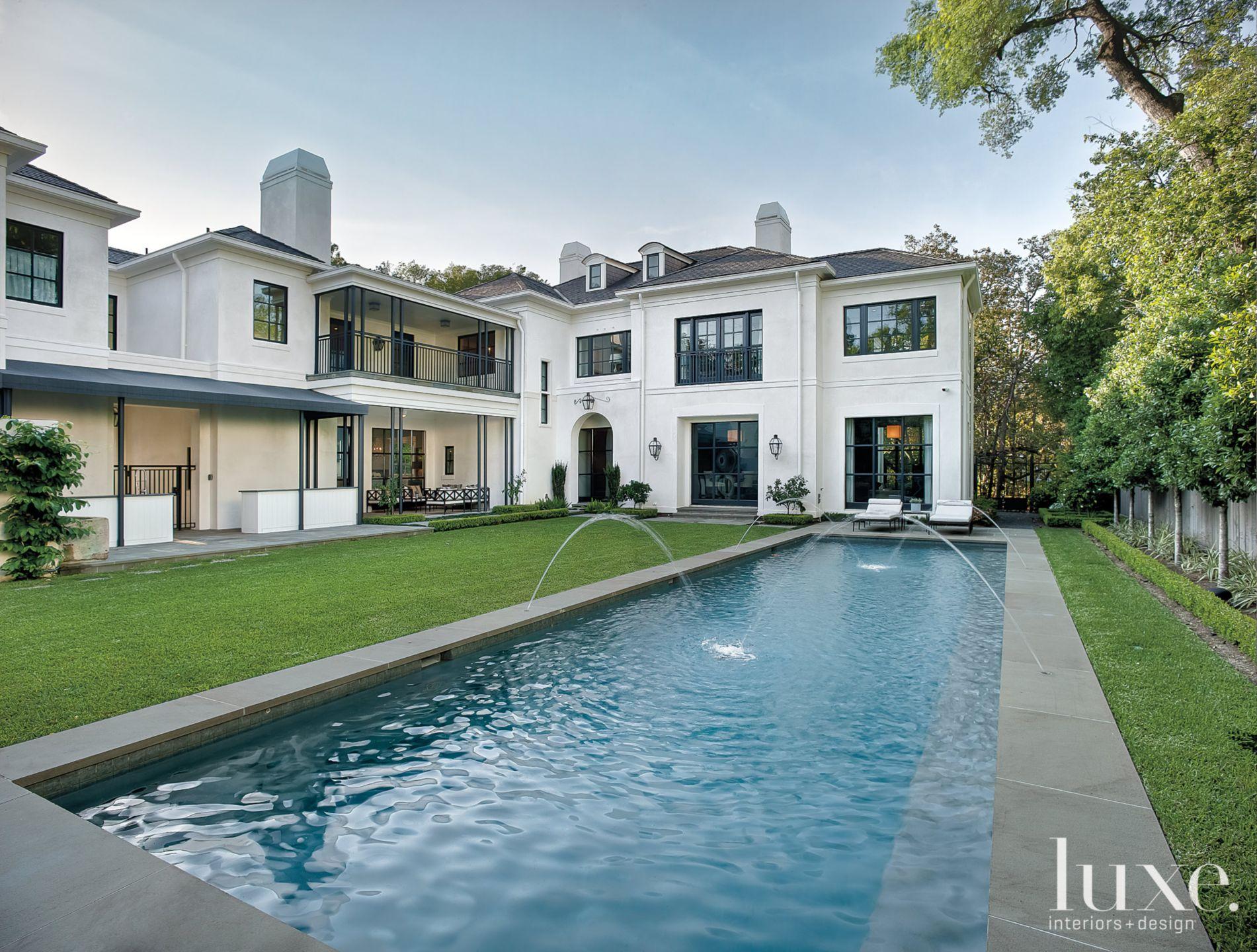 Classic Regency-Style Backyard with Pool