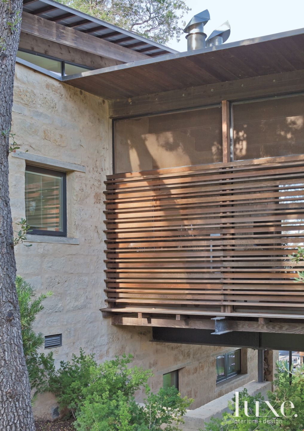 Contemporary Wood Screened Porch