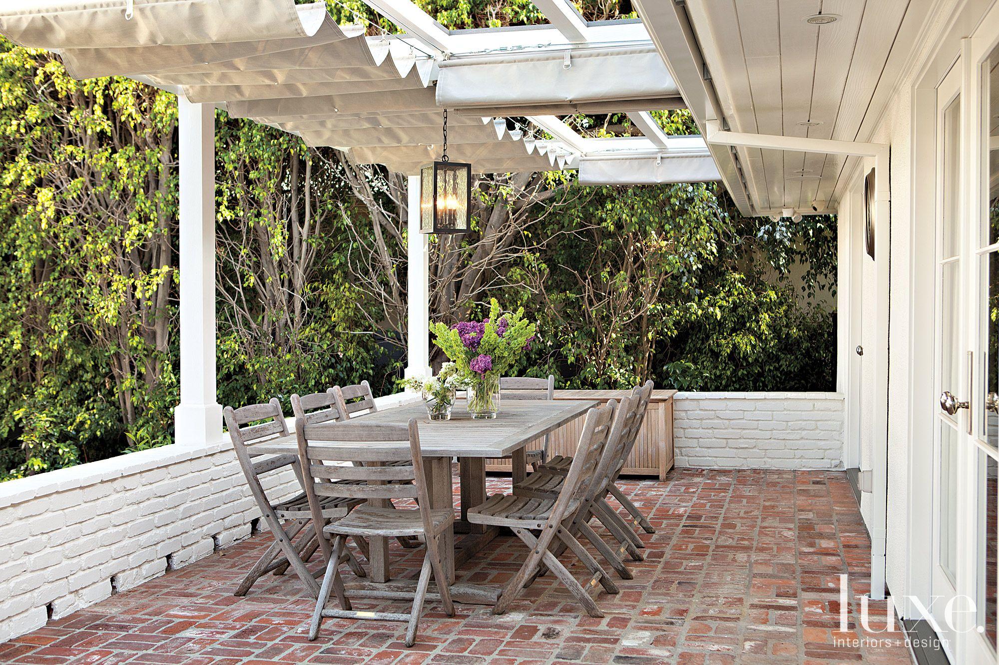 Brick terrace