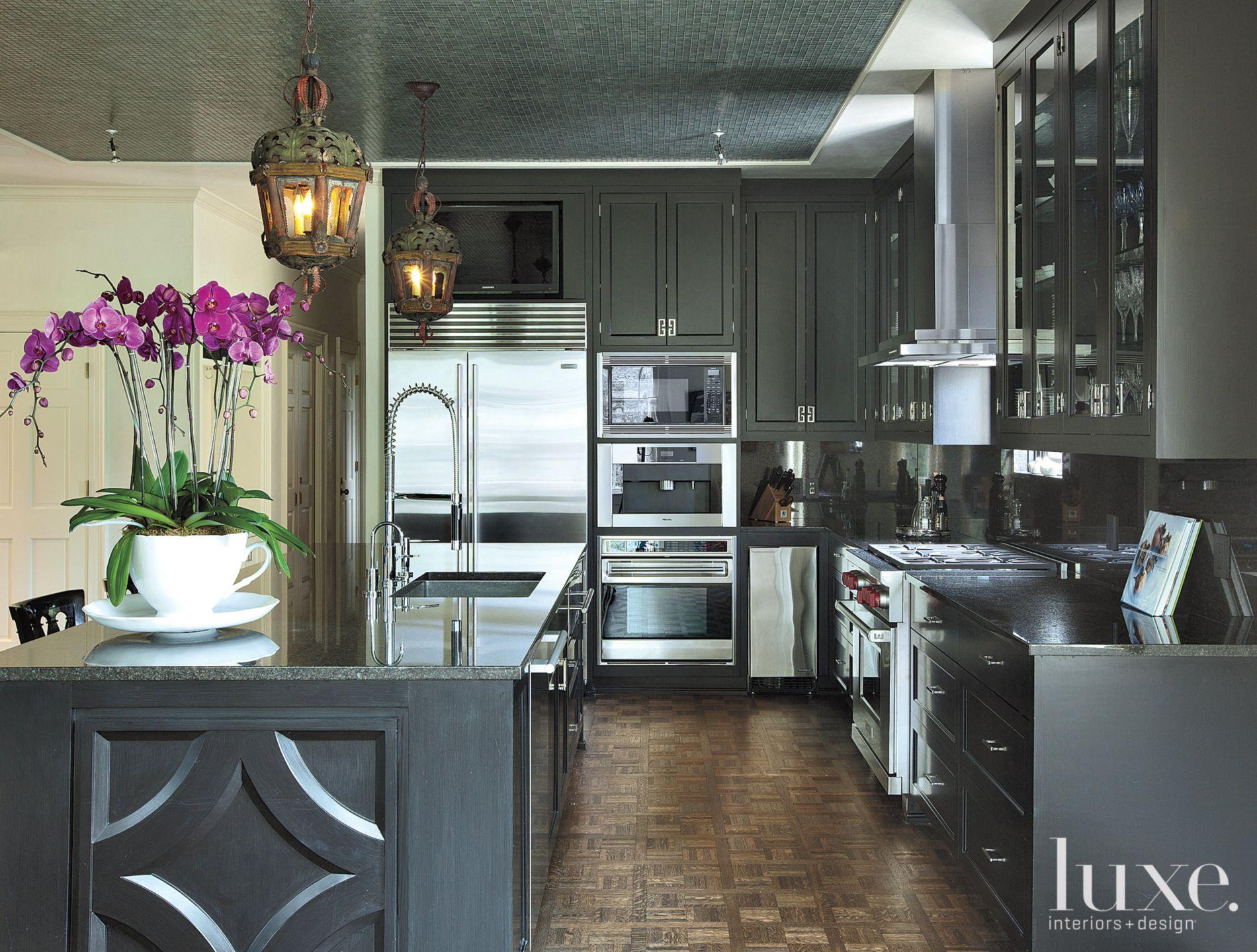 Restored Black Transitional Kitchen