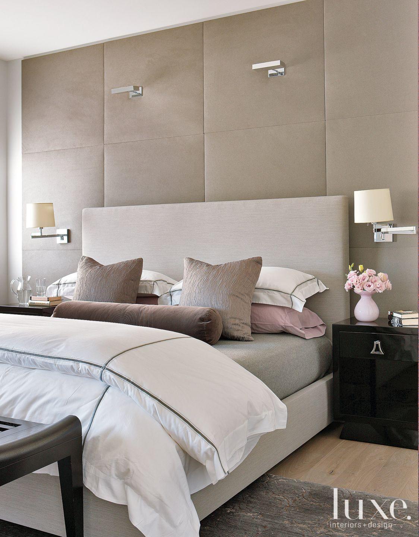 Modern Suede Master Bedroom