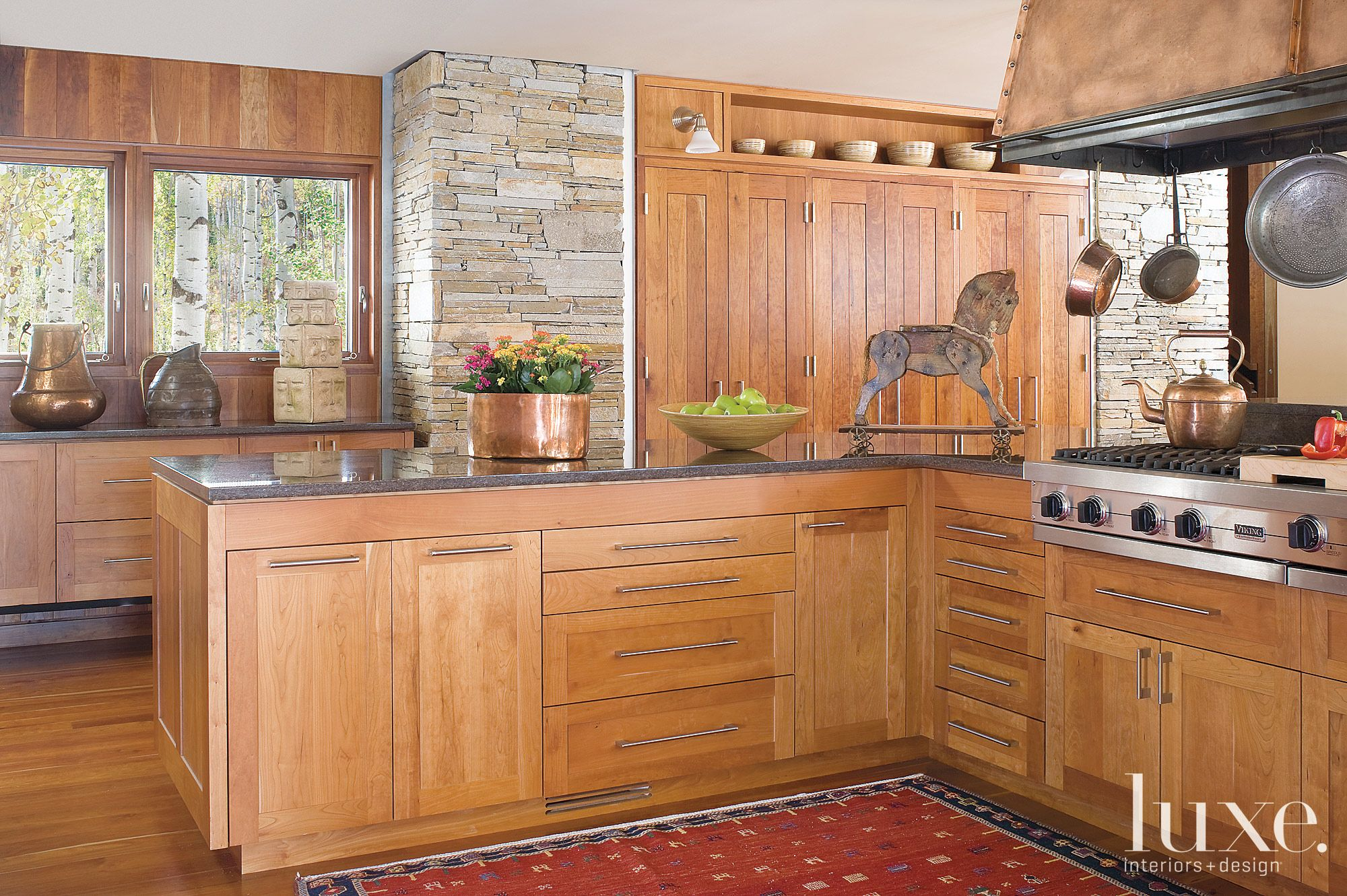 Mountain Kitchen with Cherrywood Cabintery