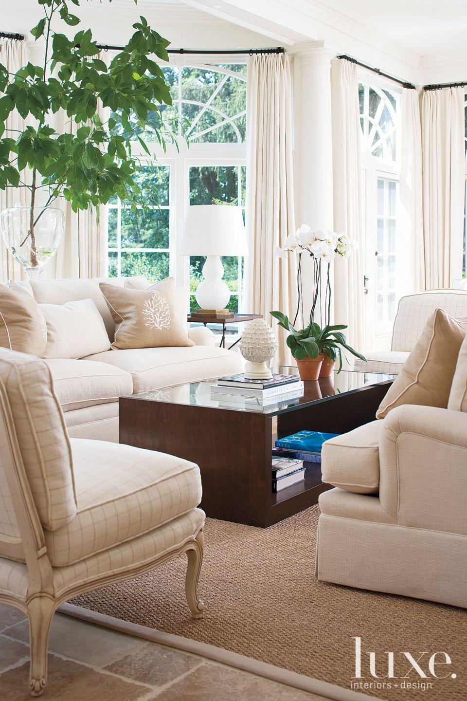 White Sunroom with Sea Grass Carpet