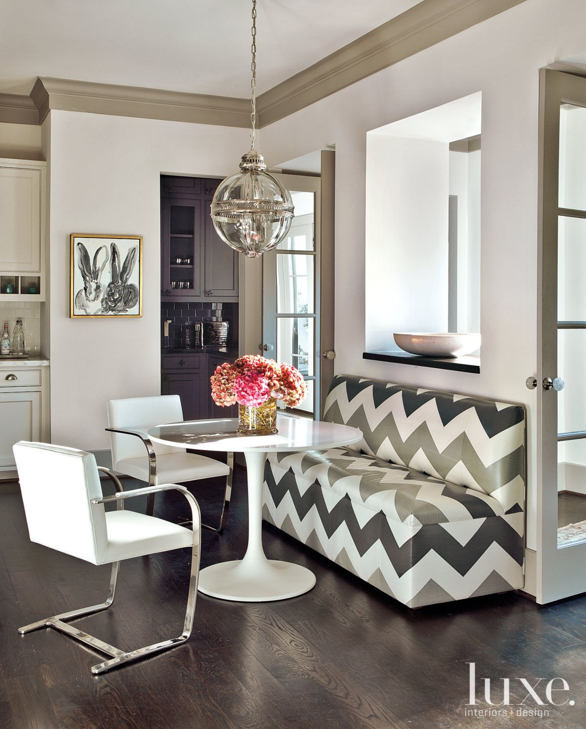 French-Revival Breakfast Nook